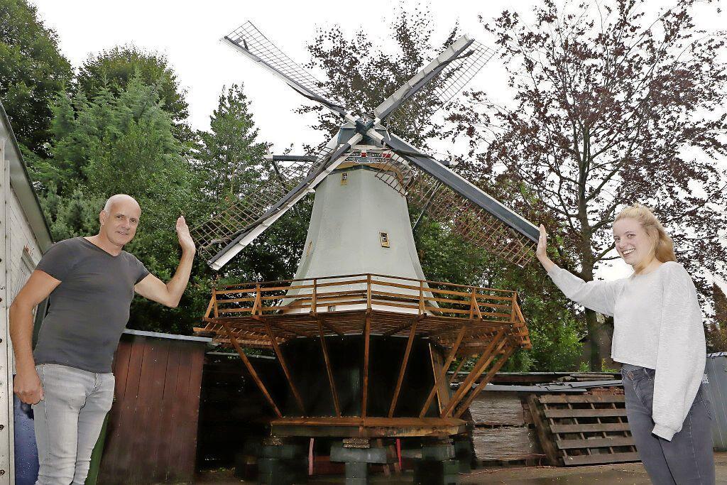 Plaatsing molen op Soester dak stapje dichterbij na positief welstandsadvies; Oud-Hollands vernuft levert groene stroom aan molenfan en aannemer Ad van de Grift