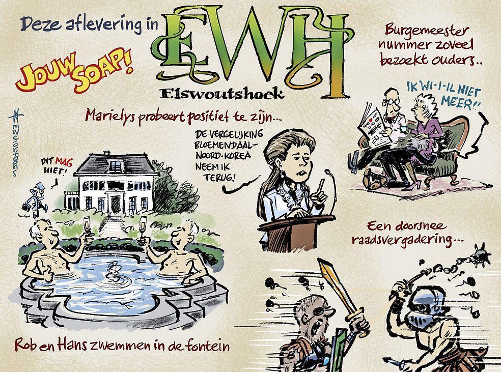 'VVD-wethouder Bloemendaal tilt geheime overeenkomst Elswoutshoek over verkiezingen van maart 2022 heen. Op dat moment heeft de VVD de verkiezingen alweer gewonnen'