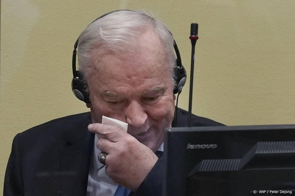 Mladic krijgt definitief levenslang voor genocide Srebrenica