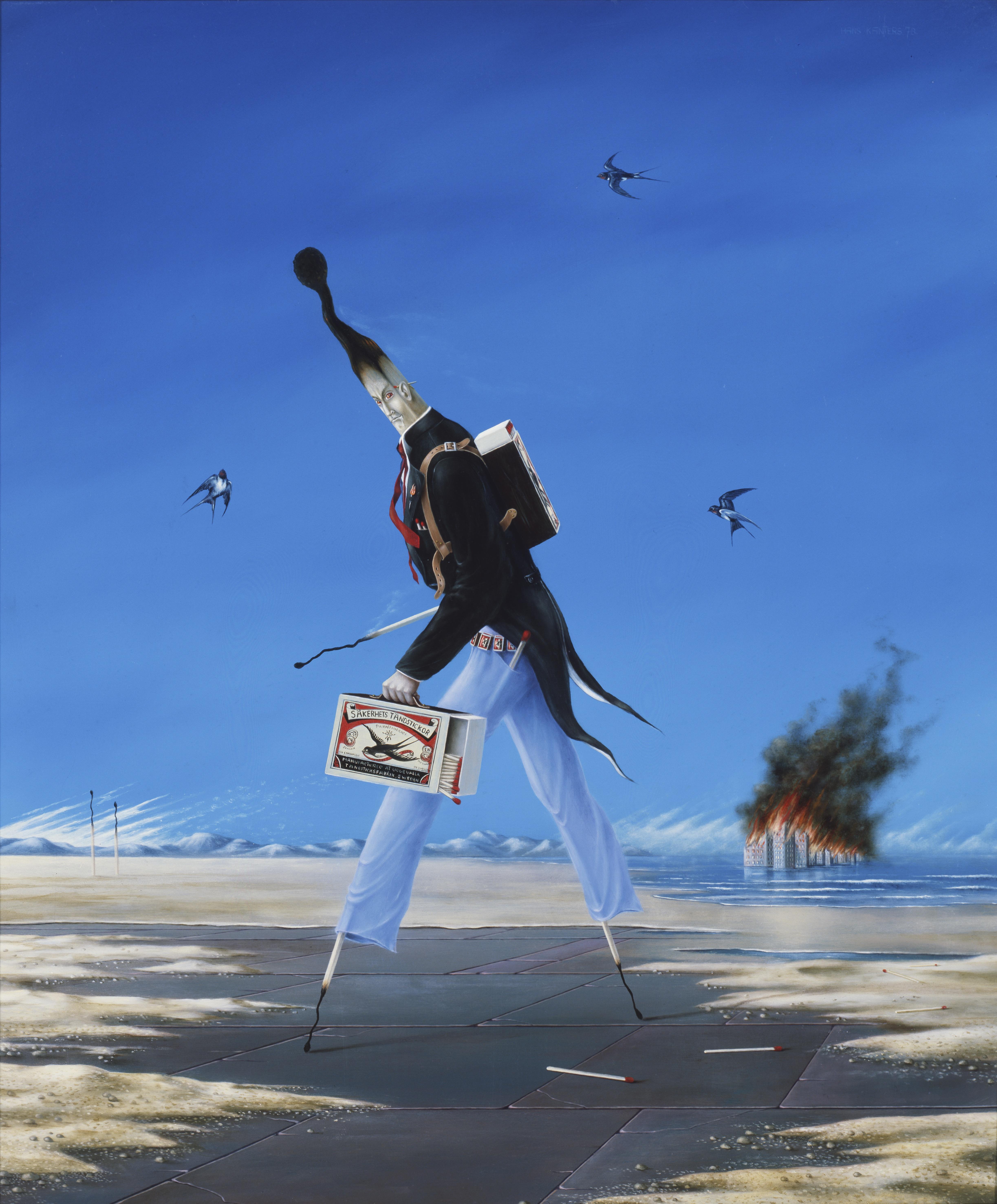 Surrealist Hans Kanters legde advies om geen 'pielemansen' meer te schilderen naast zich neer