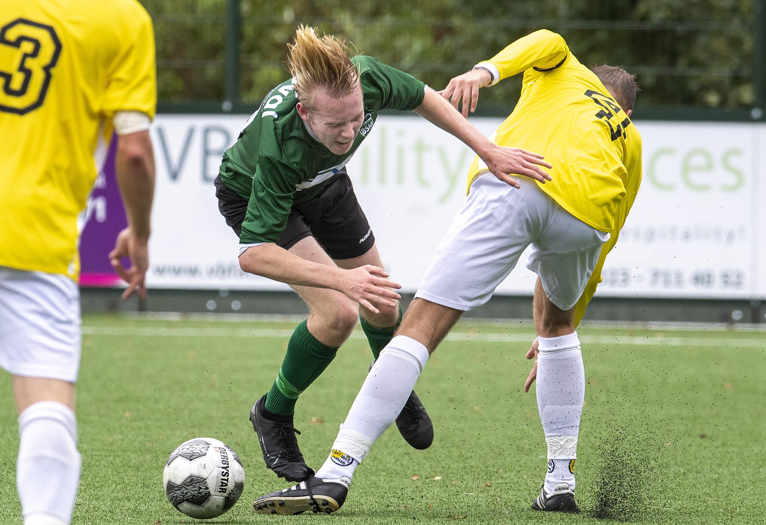 'Het team had het idee de wedstrijd onder controle te hebben, maar vanaf de kant was ik er nog niet gerust op', aldus BSM coach Lennart Loorbach na de 4-0 zege op Geel Wit