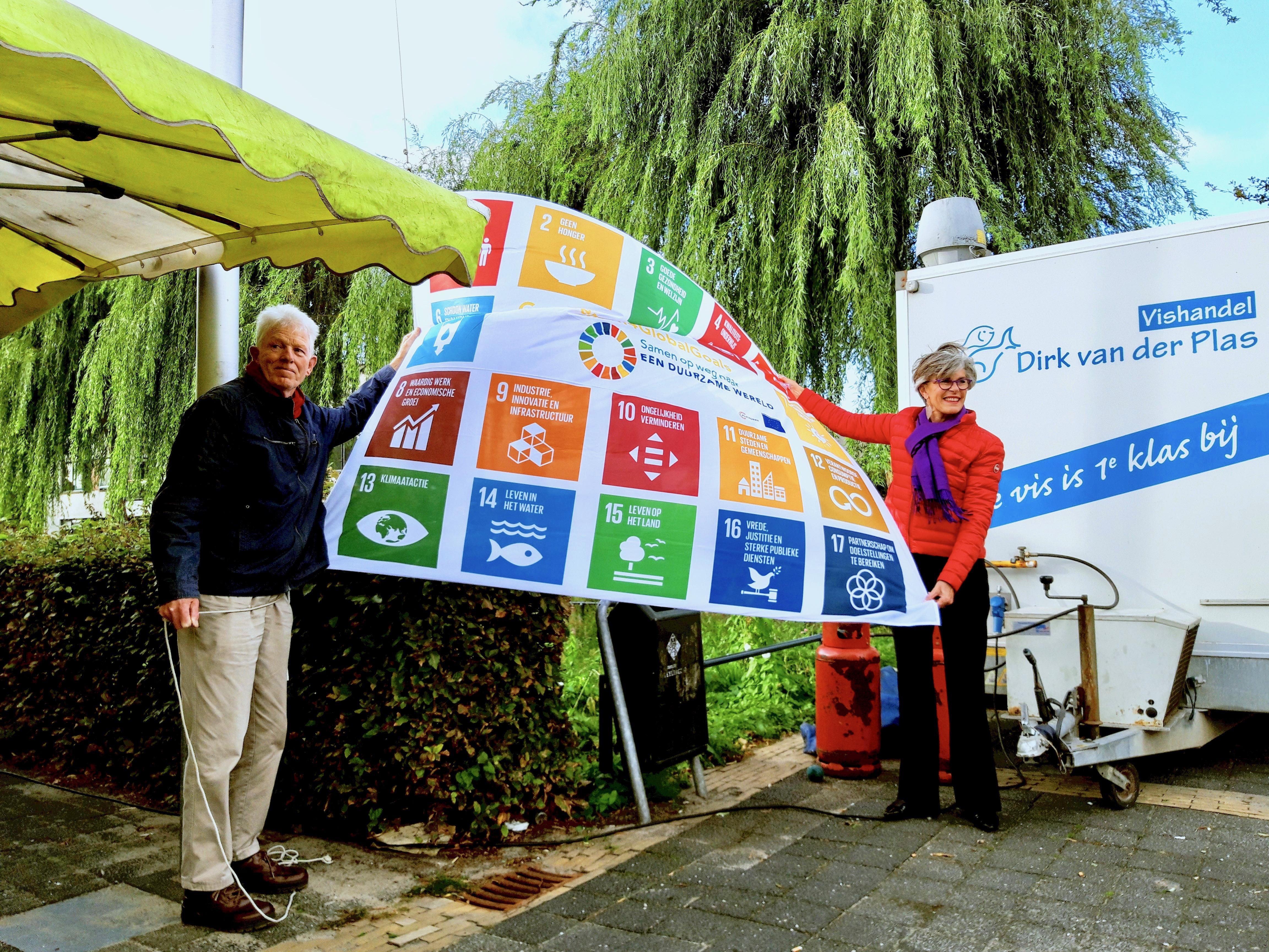 Teylingen hijst de VN-ontwikkelingsvlag