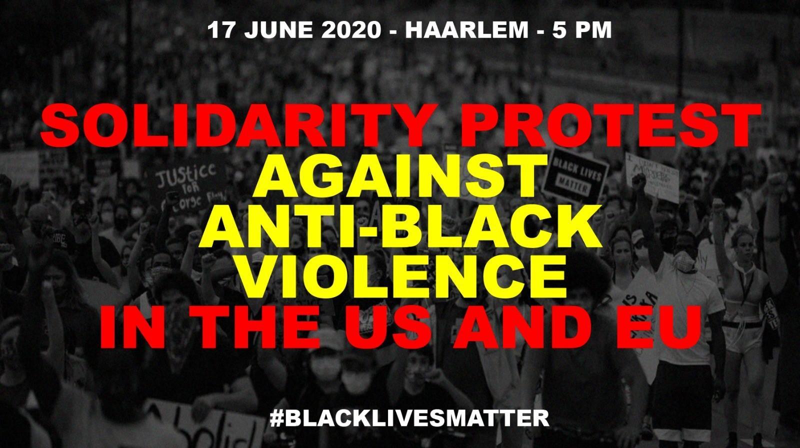 Black Lives Matter-protest woensdag in Haarlemmerhout