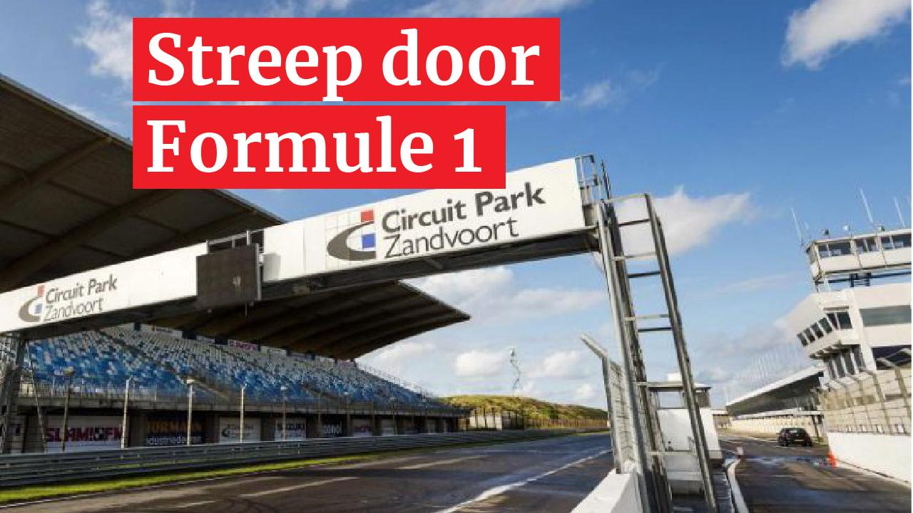Grand Prix Zandvoort uitgesteld vanwege corona