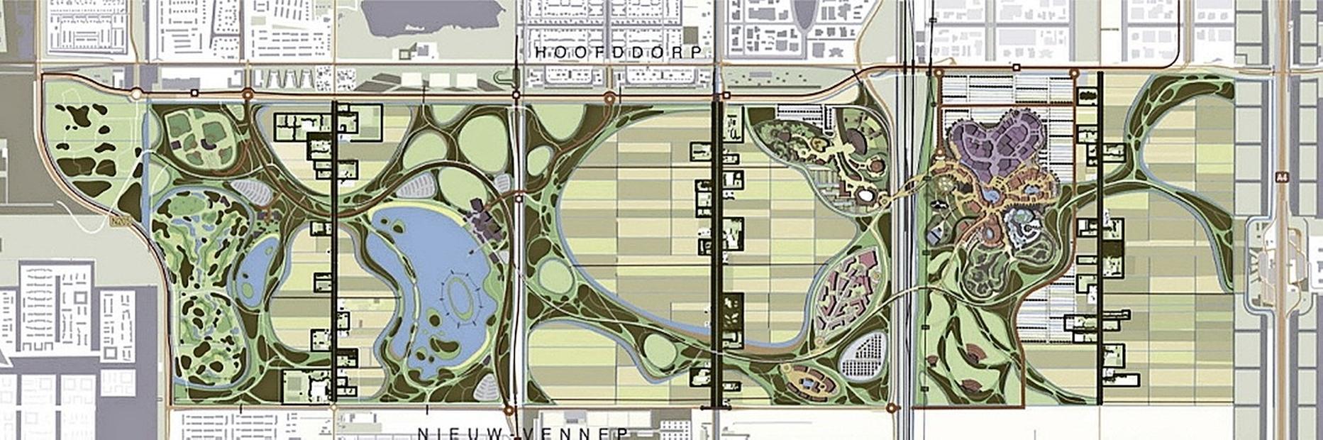 Het ooit zo ambitieuze Park21 wordt een 'gewoon' recreatiegebied