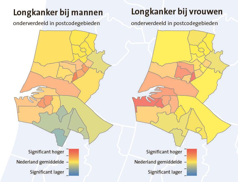 Longkanker is volksziekte in centrum van Beverwijk; gemiddeld 50% meer dan landelijk, vooral bij vrouwen hoge cijfers