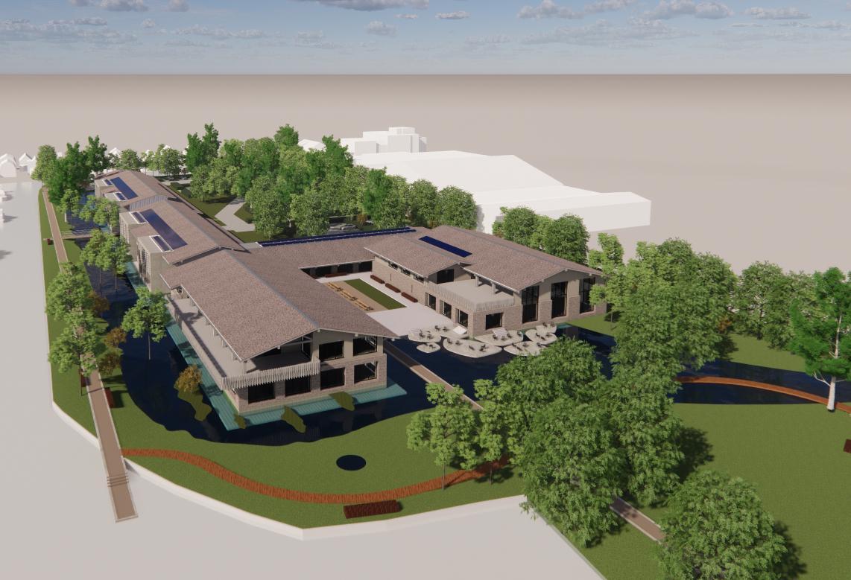 Groene campus op eilandje nieuw hoofdkantoor voor snelgroeiende verzekeraar NH1816 in Oudkarspel