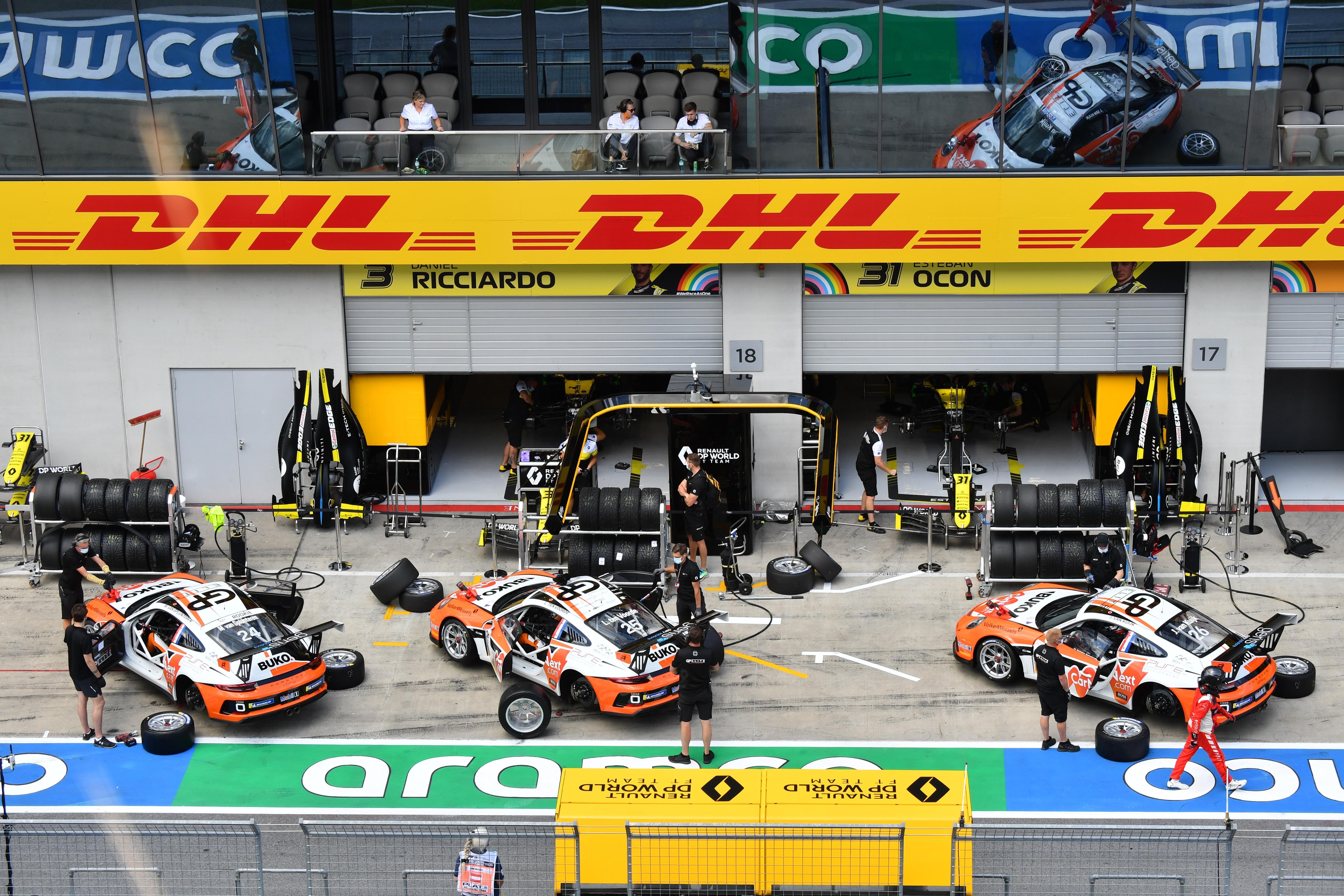 Het Noord-Hollandse Porsche-team GP Elite werkt in een bubbel tijdens Formule 1-wedstrijden in Oostenrijk. 'Naar Max Verstappen kunnen we alleen zwaaien'