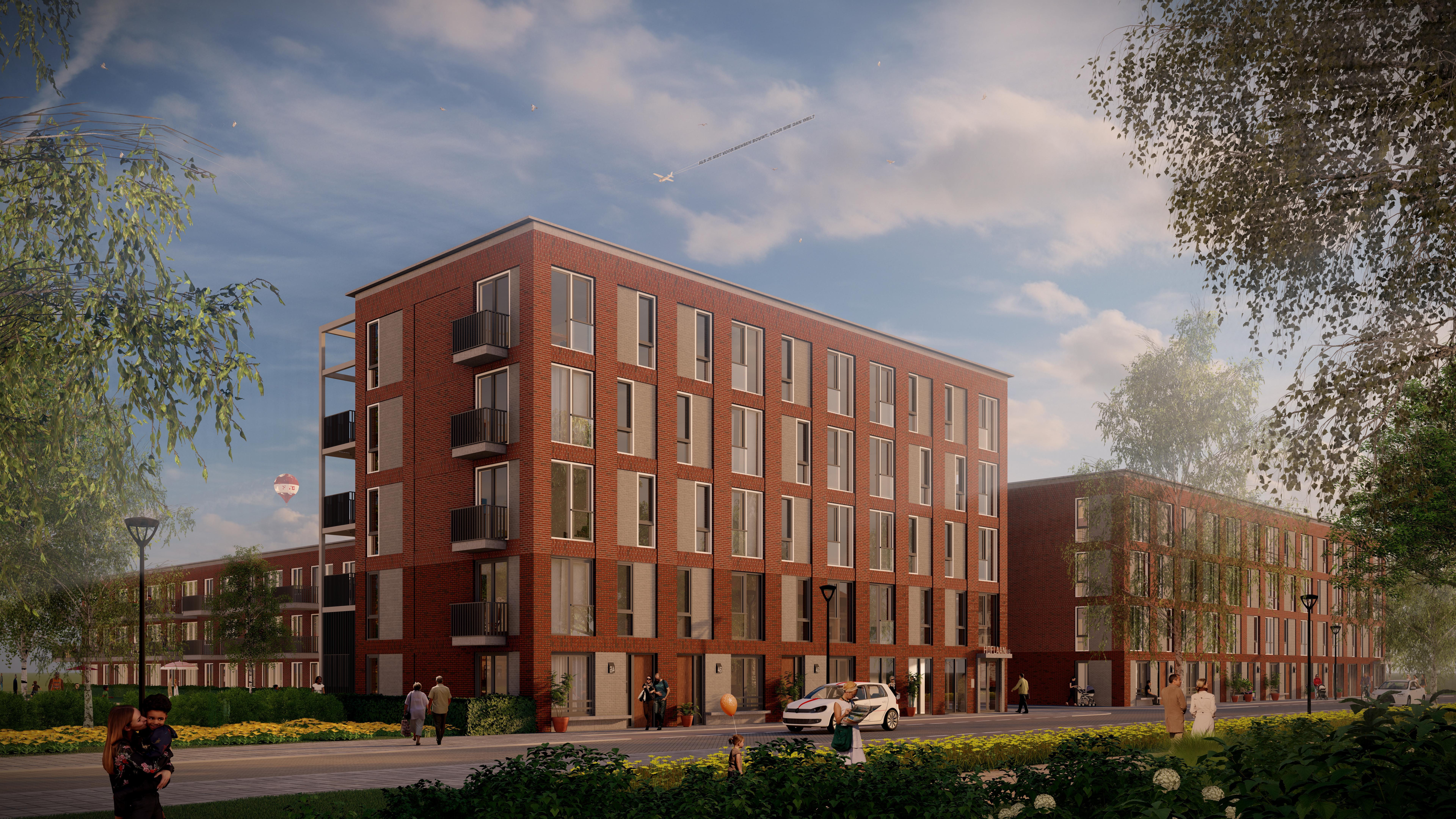 Plan voor 74 woningen aan Weidehof en Hoflaan in Leiden na korte vertraging gepresenteerd