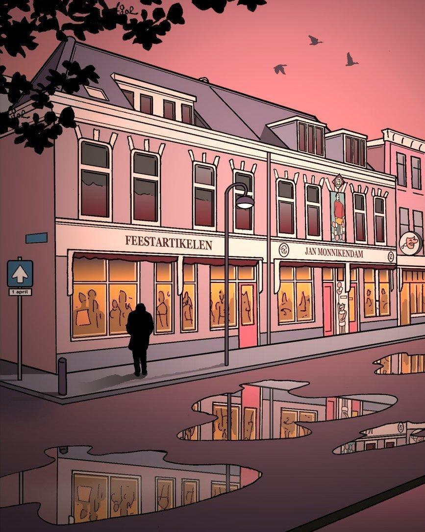 120 jaar feestartikelen aan de Gedempte Raamgracht in Haarlem: Jan Monnikendam