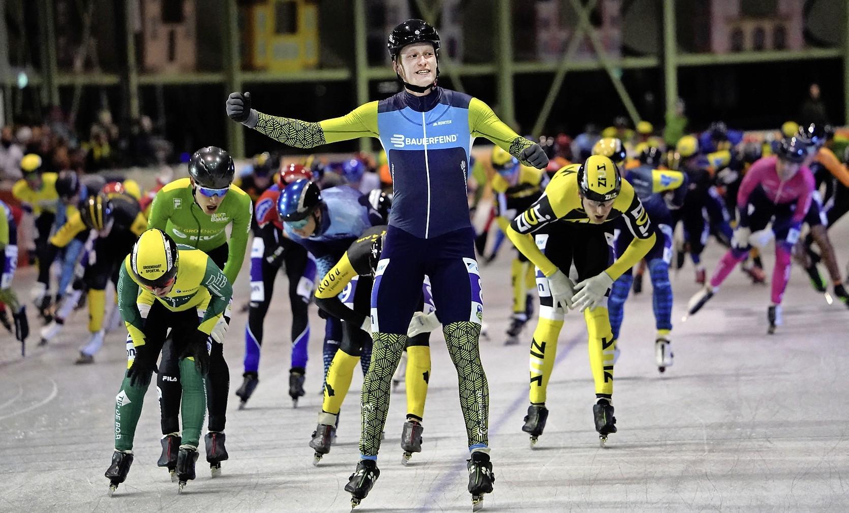 Vierdaagse betekent lange dagen voor marathonschaatser Ruud Slagter: werken, autorijden, schaatsen én winnen