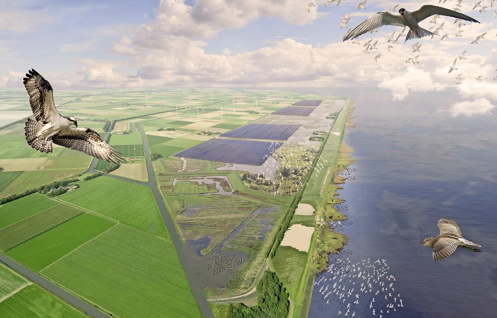Streep door nieuwe windturbines Medemblik en opwekken wind- en zonne-energie bij Enkhuizen, niet door plannen bij Andijk