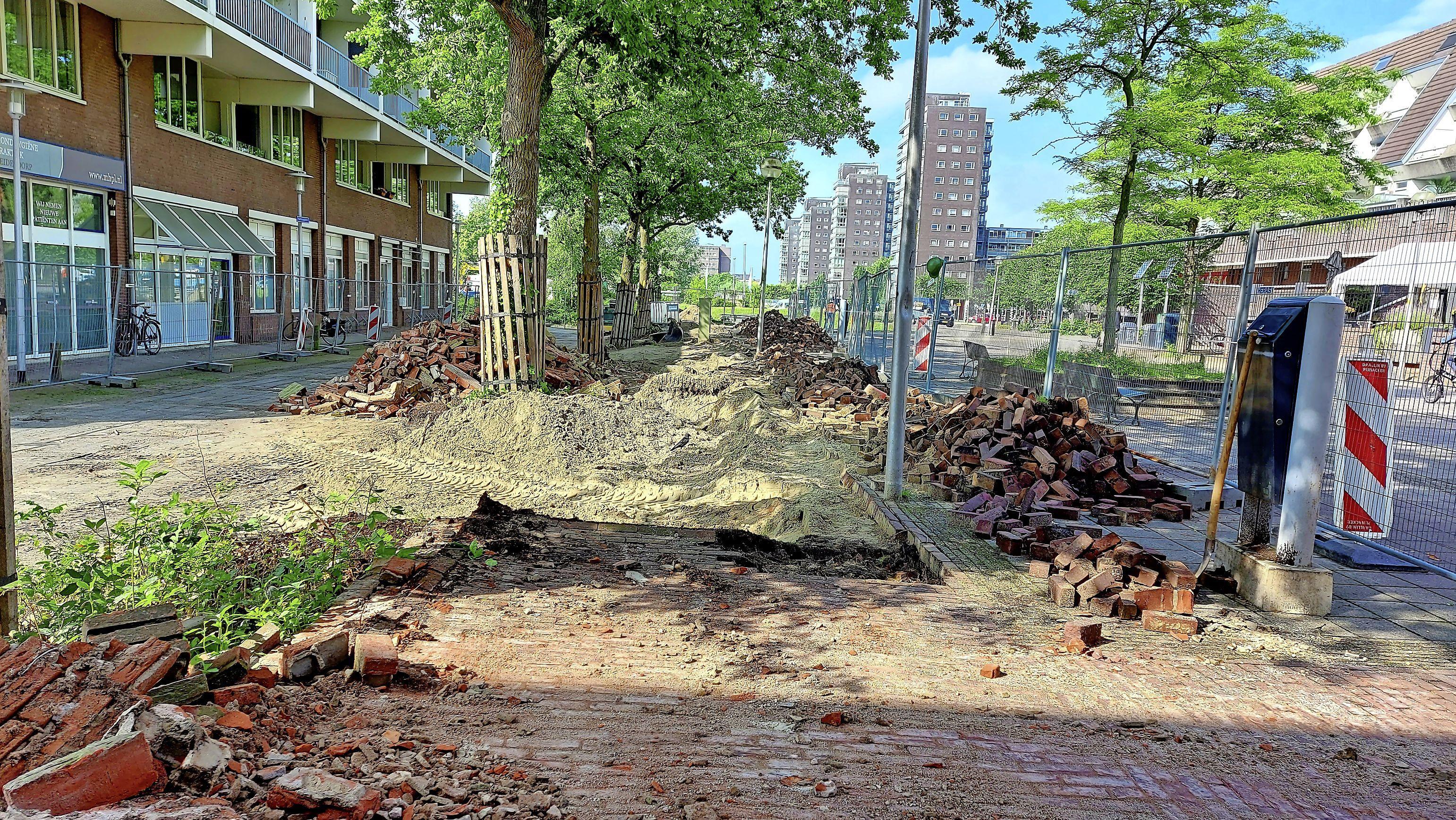 Statendaalderplein Leiderdorp in augustus weer 'fris en fruitig'