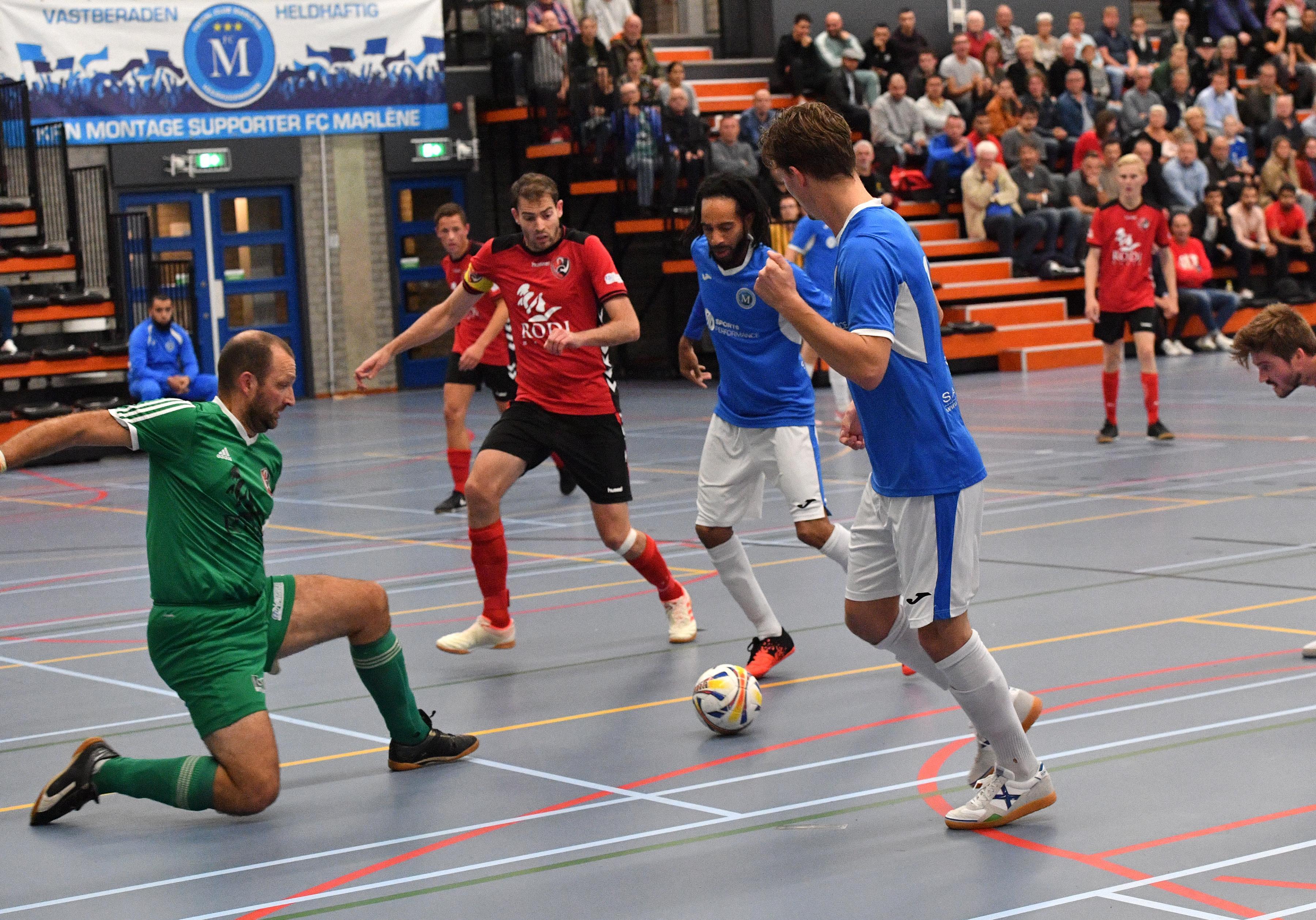 Dubbele cijfers hoeven dit keer niet voor zaalvoetballers FC Marlène in derby tegen White Stones