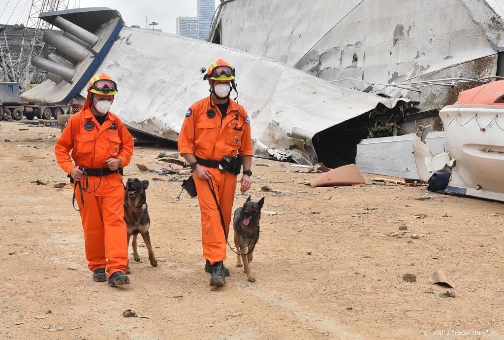 Drukke dag voor Nederlandse reddingswerkers Beiroet