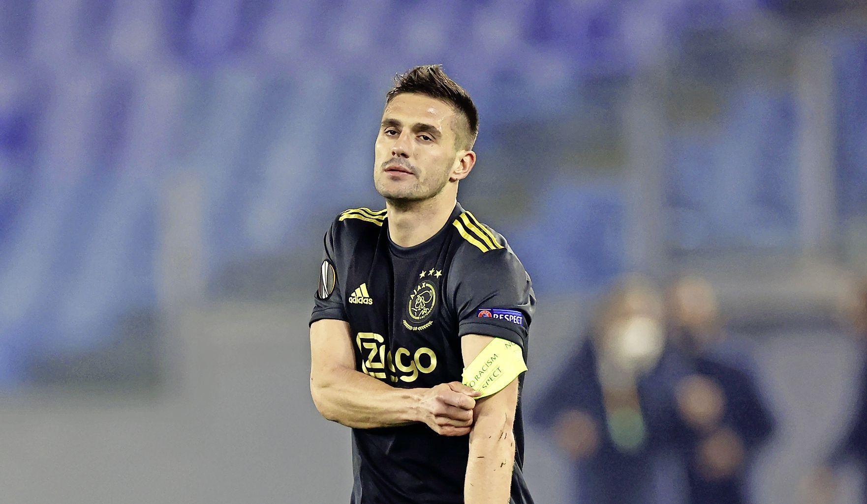 AS Roma-Ajax: Tadic hoorde de scheidsrechter 'Ga door, ga door' roepen