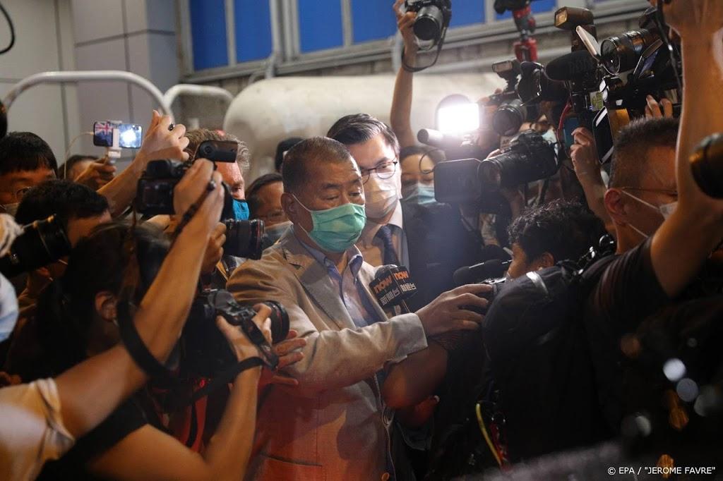 Hongkong-activist en mediamagnaat Jimmy Lai op borgtocht vrij