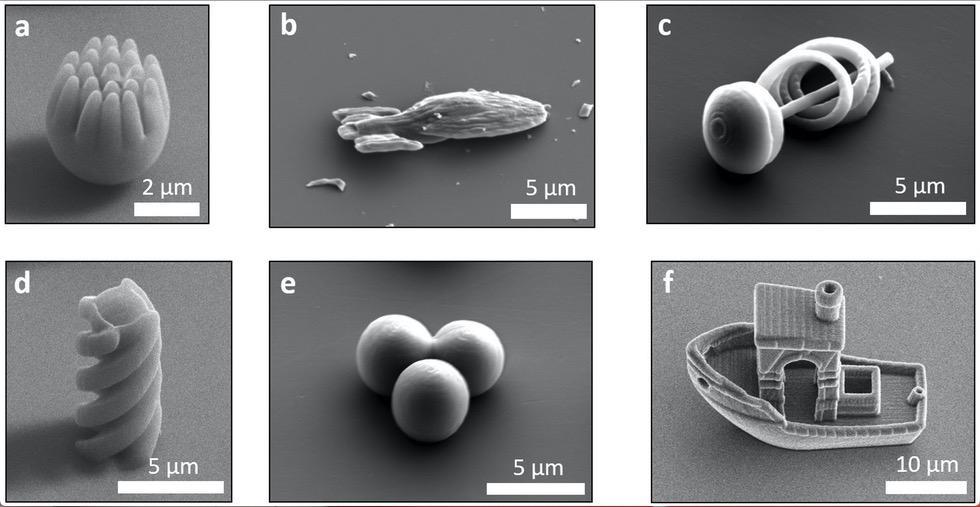 Leidse natuurkundigen maken microscopisch klein sleepbootje '3D Benchy'