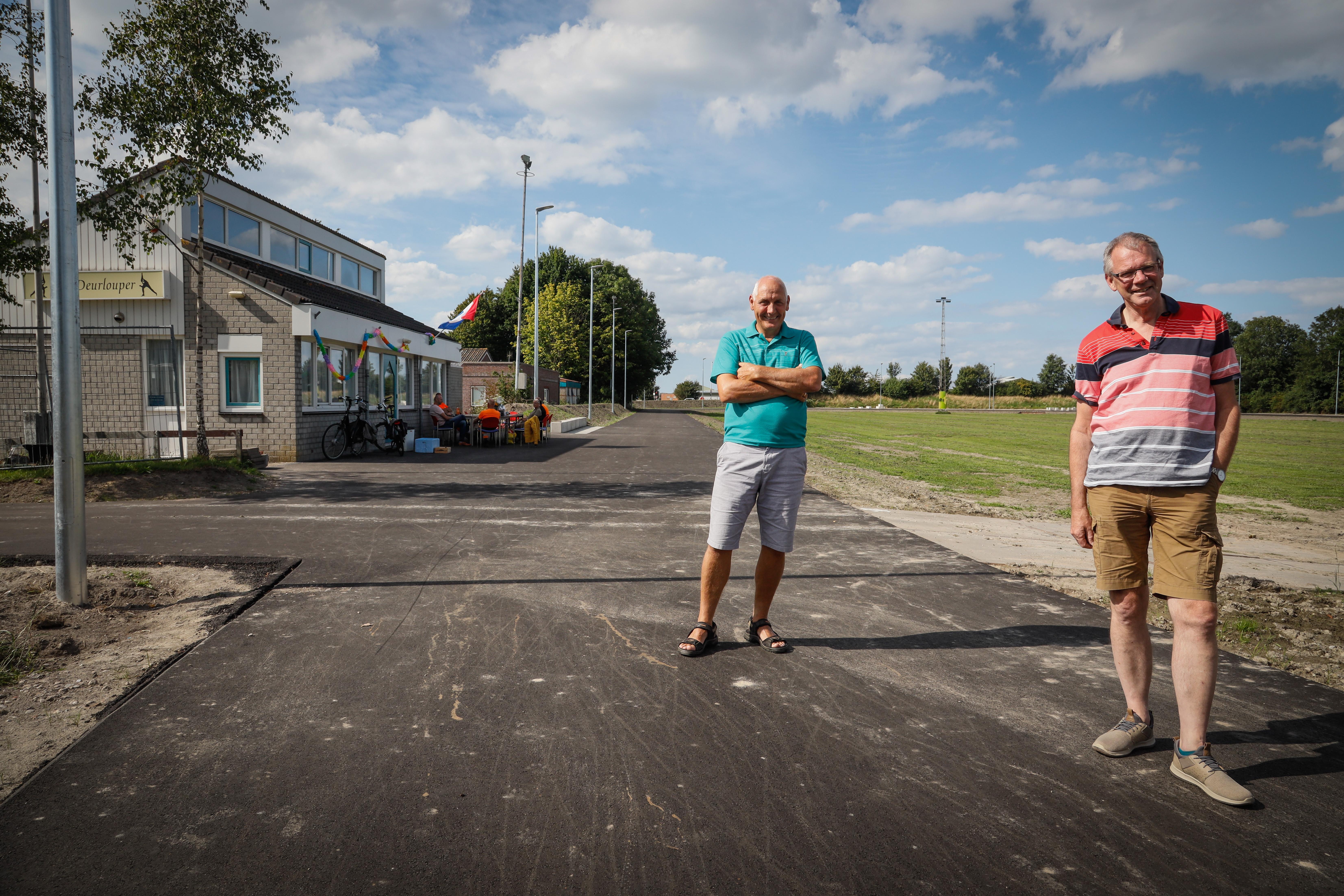 Nieuwe asfaltbaan en buitengym op landijsbaan aan Sluisweg; Sportcircuit Hoogkarspel is bijna compleet