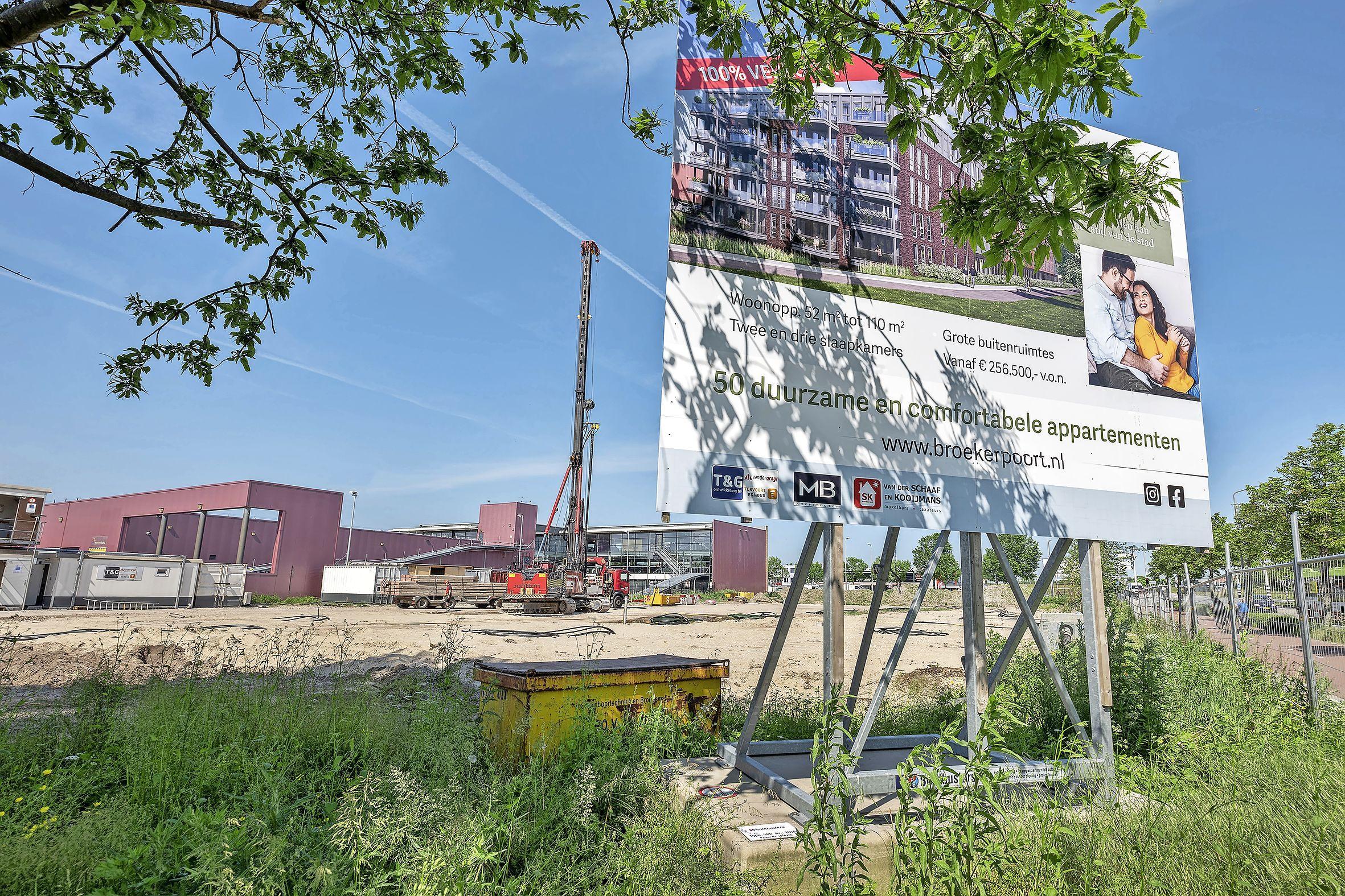 Vanaf ongeveer 250.000 euro wonen in Broekerpoort naast Motorhuis Velserbroek
