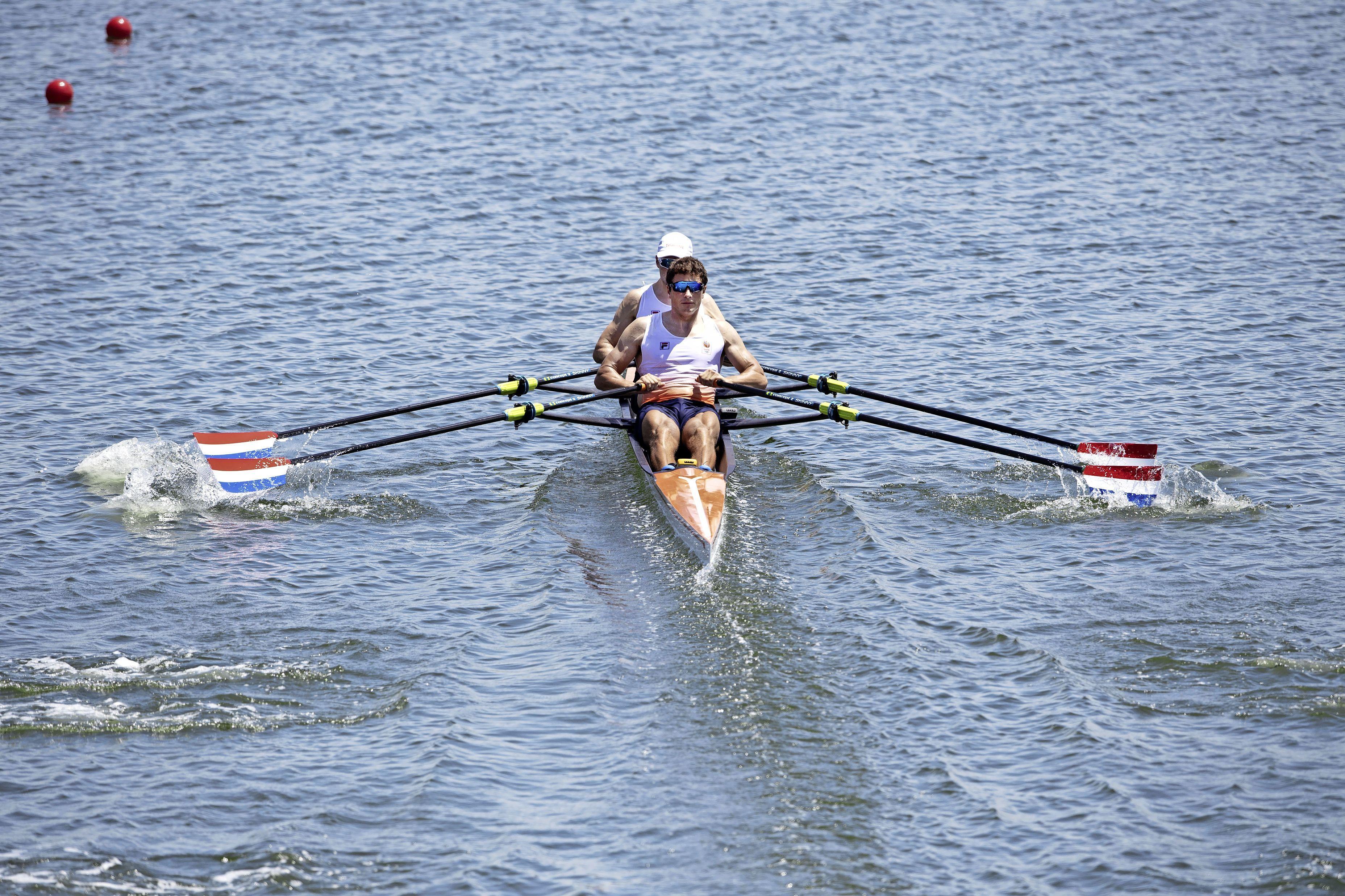 Net behaald olympisch record zegt roeier Stef Broenink niet zoveel. 'Belangrijker is dat we in de volgende race de finale halen'