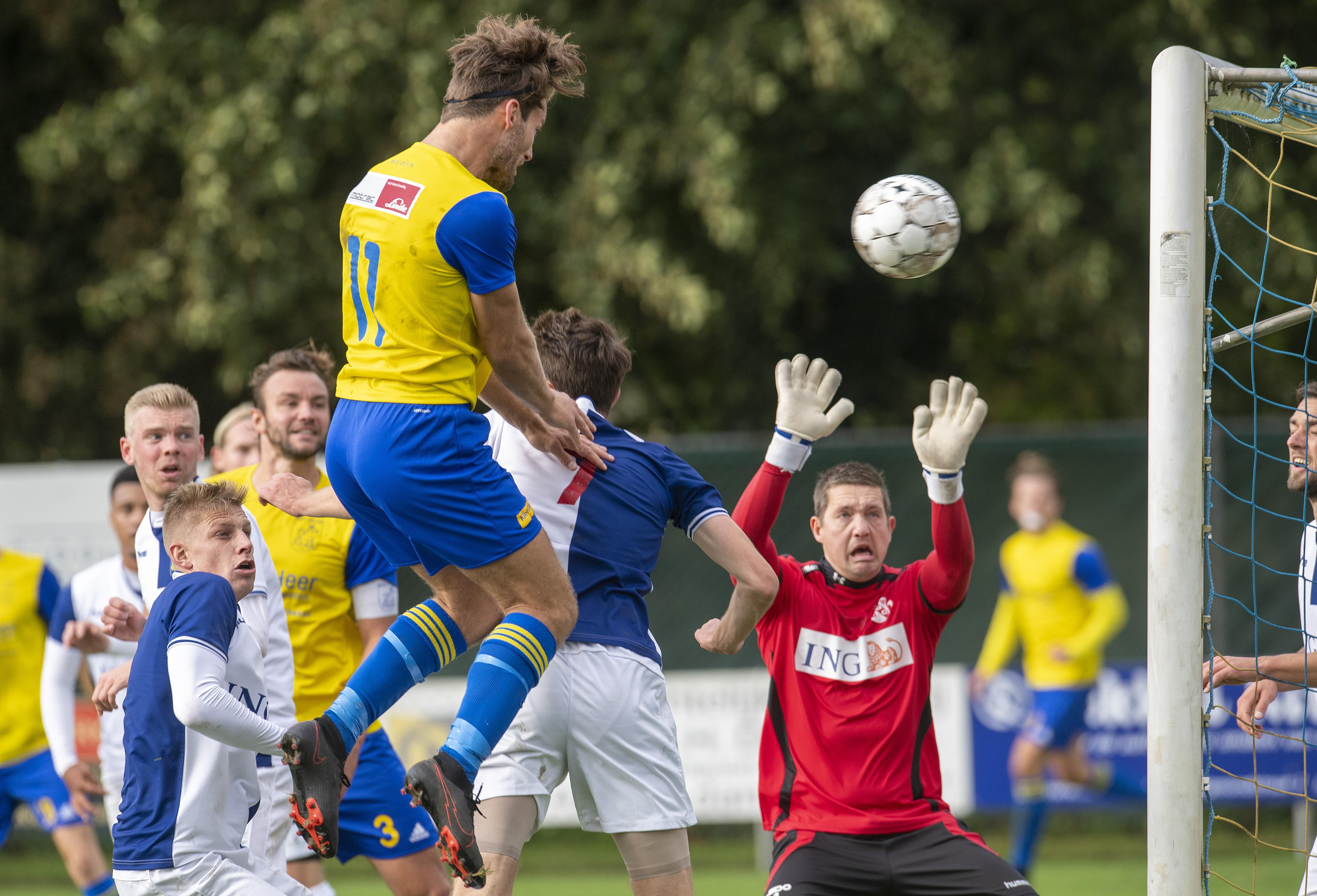 Handhaving is doel voor Velsen maar na vijf wedstrijden staat het bovenaan in hoofdklasse: 'Fijn dat dit alvast binnen is'