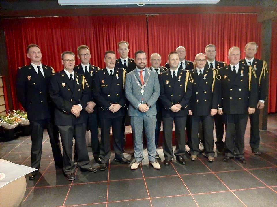Koninklijke onderscheiding brandweerlieden Drechterland