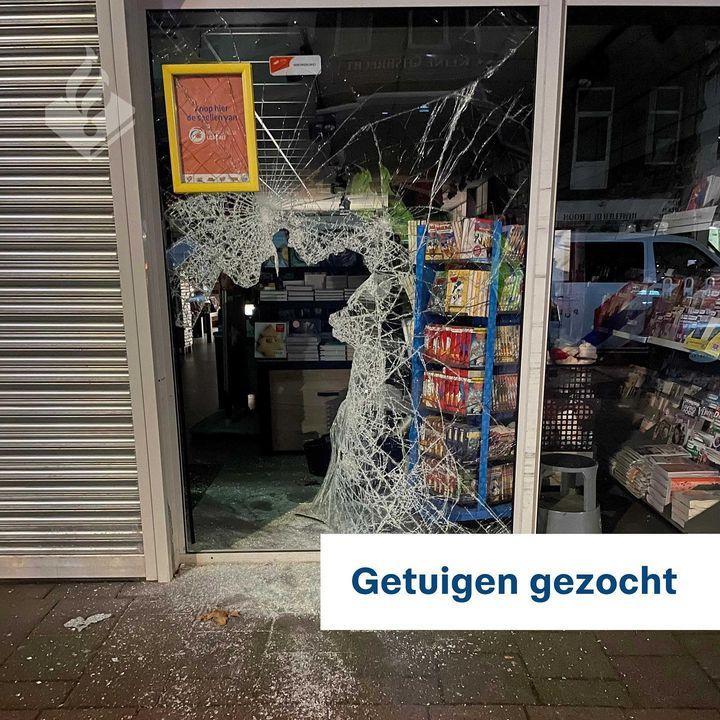 Inbraak bij Bruna in Hilversum, dader op de vlucht