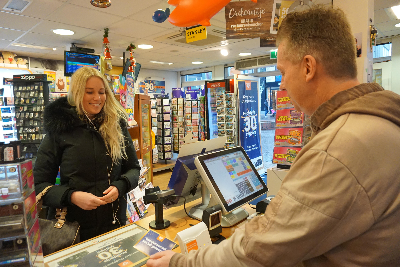 Lootje kopen bij een winkel met winnaarskarma