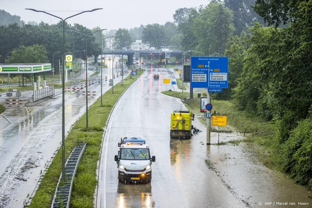 Deel snelweg A79 in Limburg dicht vanwege wateroverlast