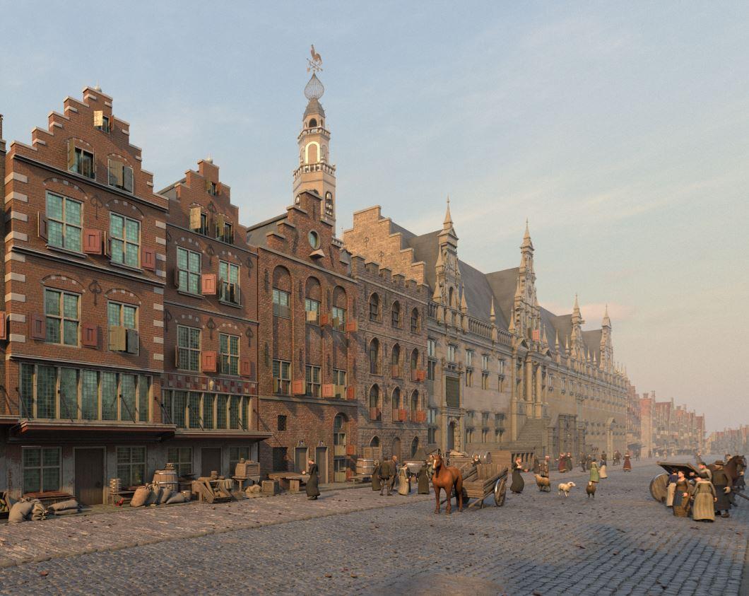 Verborgen Stad' presenteert reconstructies van Leiden ten tijde van de Pilgrims [video]
