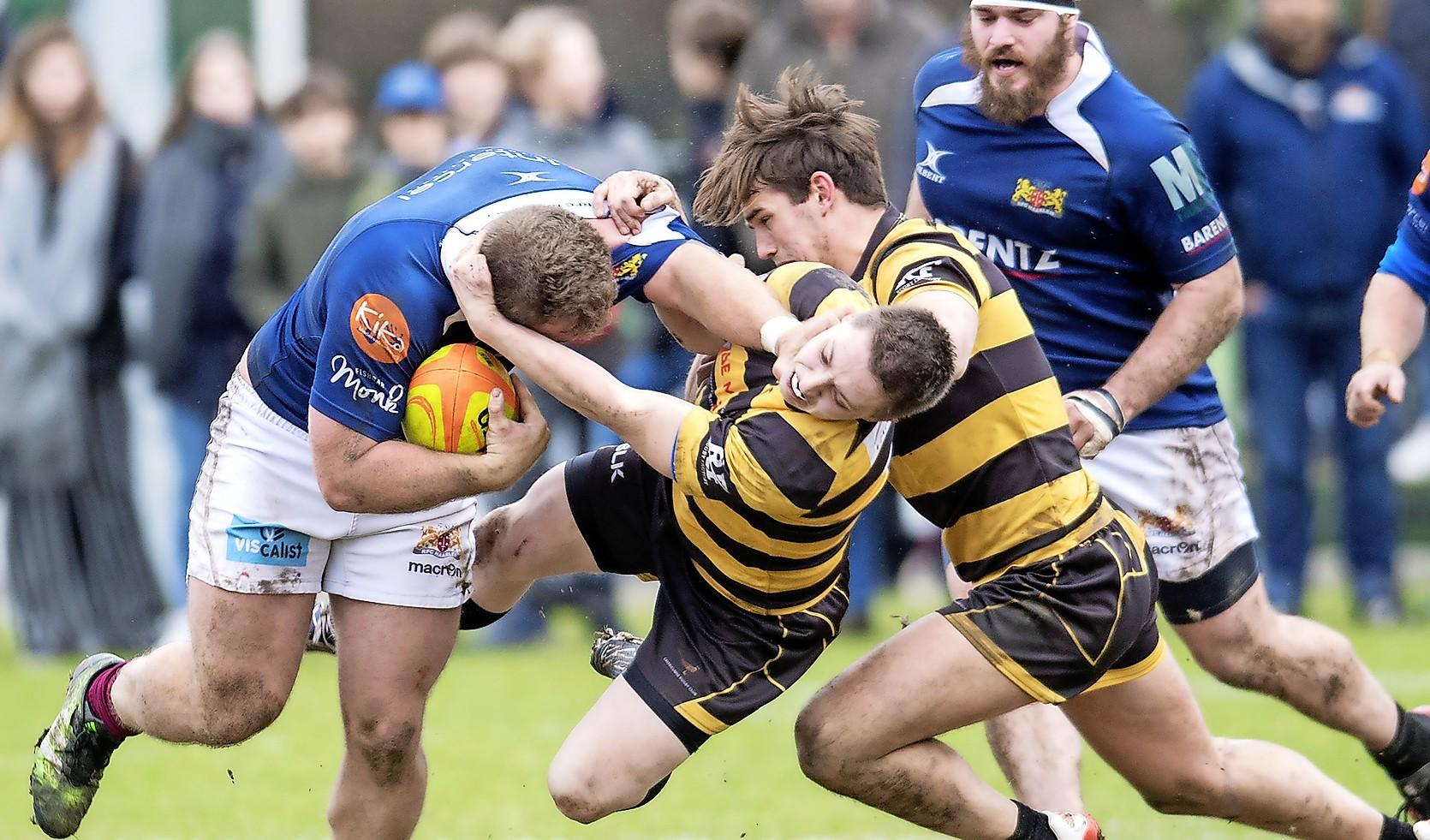 Rugbyers Haarlem flinke stap dichterbij titel
