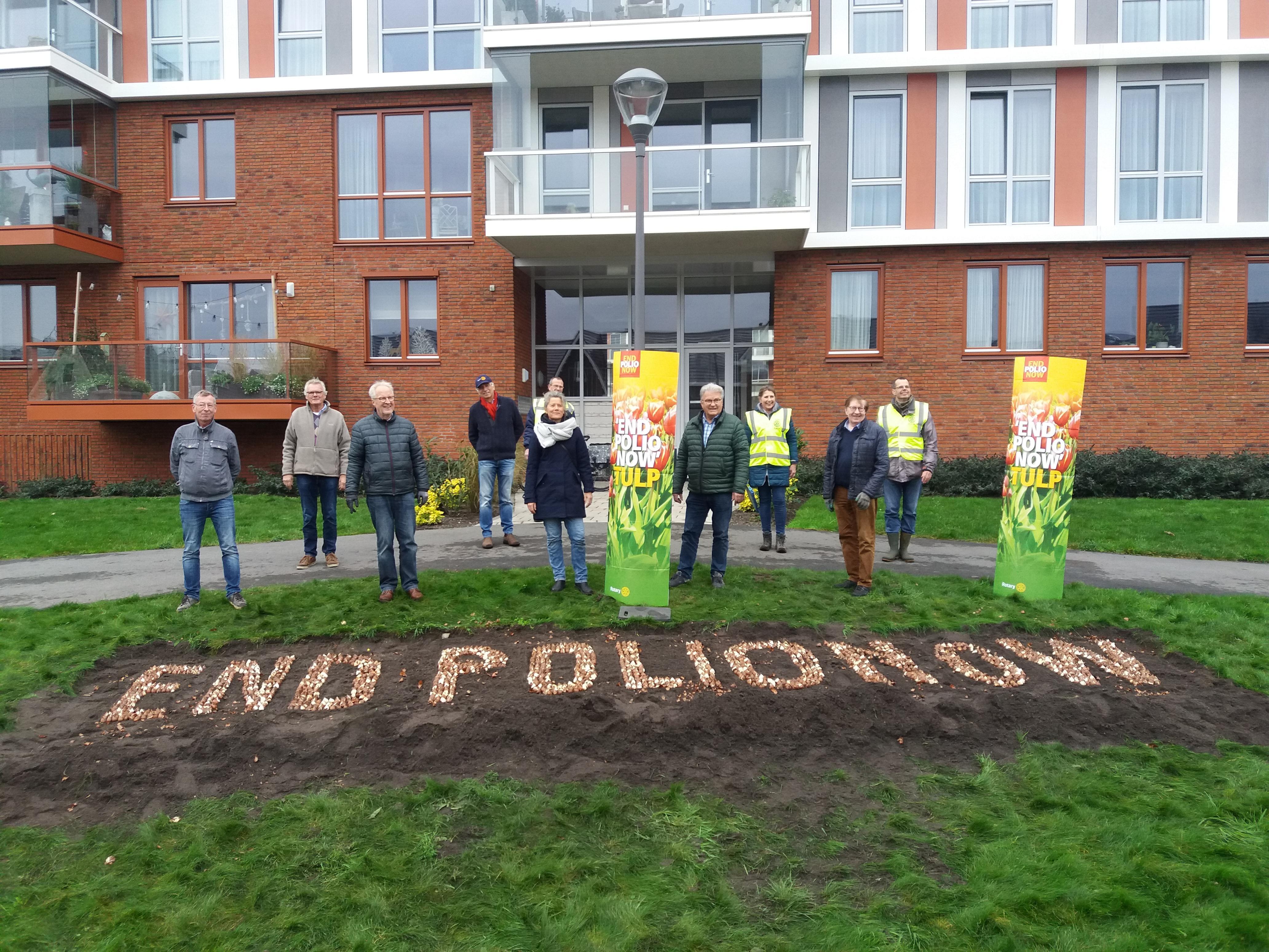 Rotary Club Voorhout en gemeente Teylingen met tulpenbollen samen in actie: 'End Polio Now'