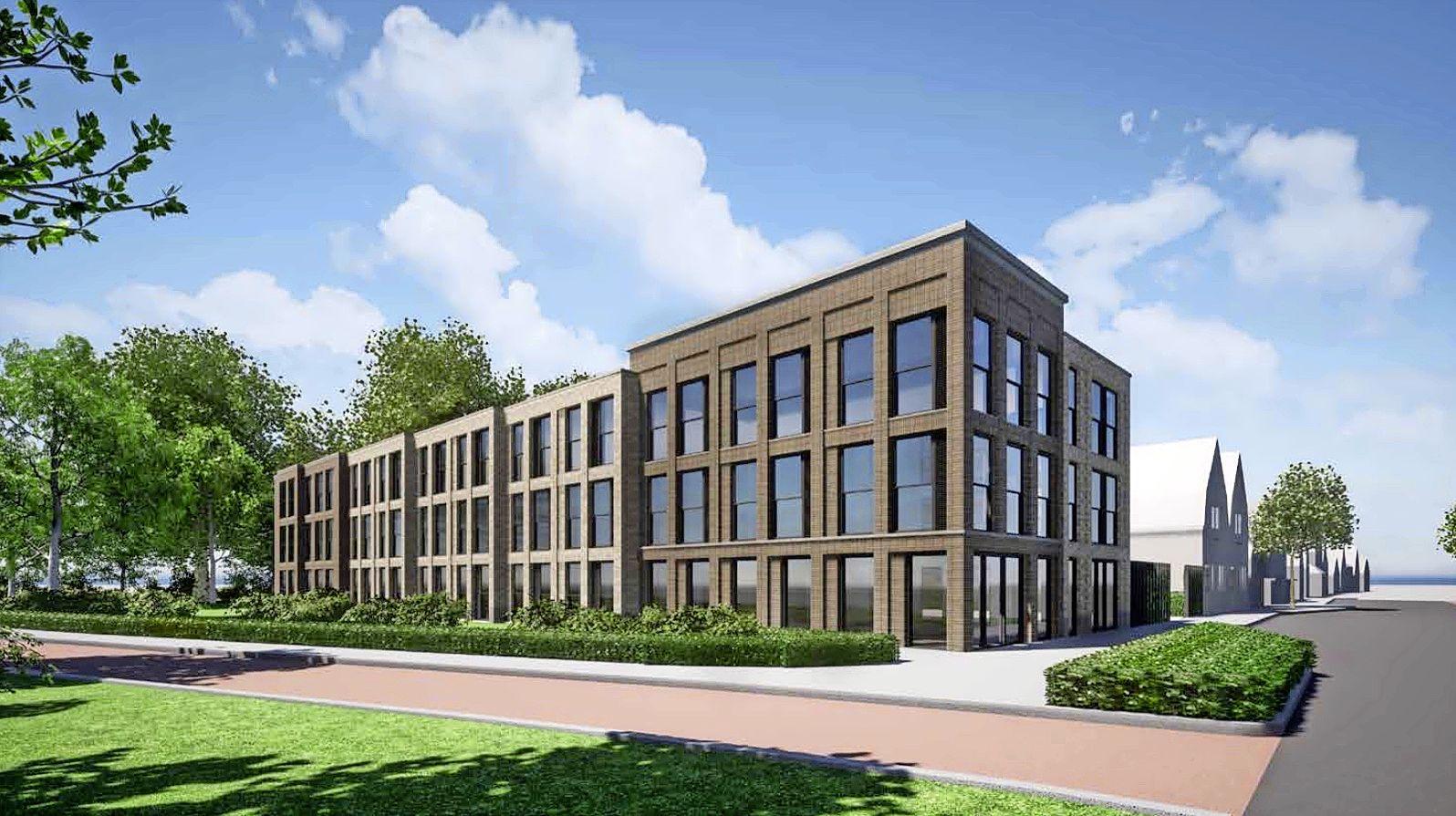 Geen woontoren, maar gebouw met 28 huurwoningen op plek De Egel Banden in Hoorn