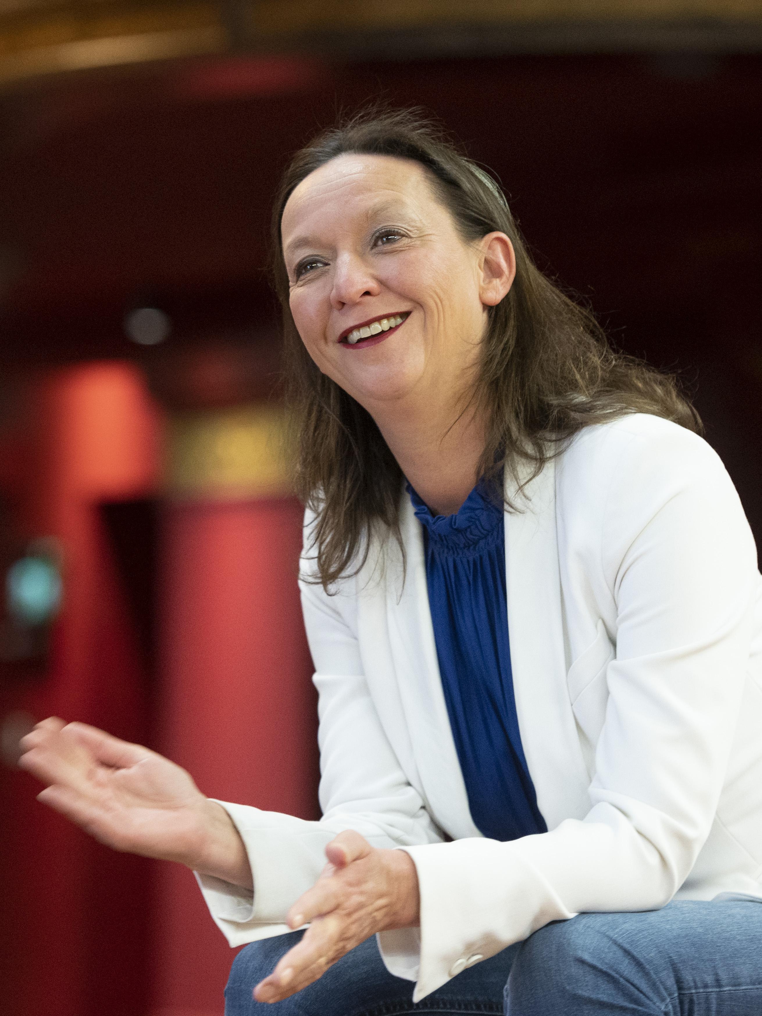 Directeur Patronaat Haarlem is vol lof over haar mensen. Jolanda Beyer: 'Ik vind het mindblowing hoe zij onder deze omstandigheden enthousiast doorgaan'
