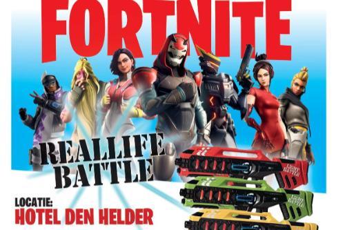 Rennen, schieten en loeren. Fortnite battle in het echt en digitaal. Basisschooljeugd Den Helder kan voluit gamen in herfstvakantie
