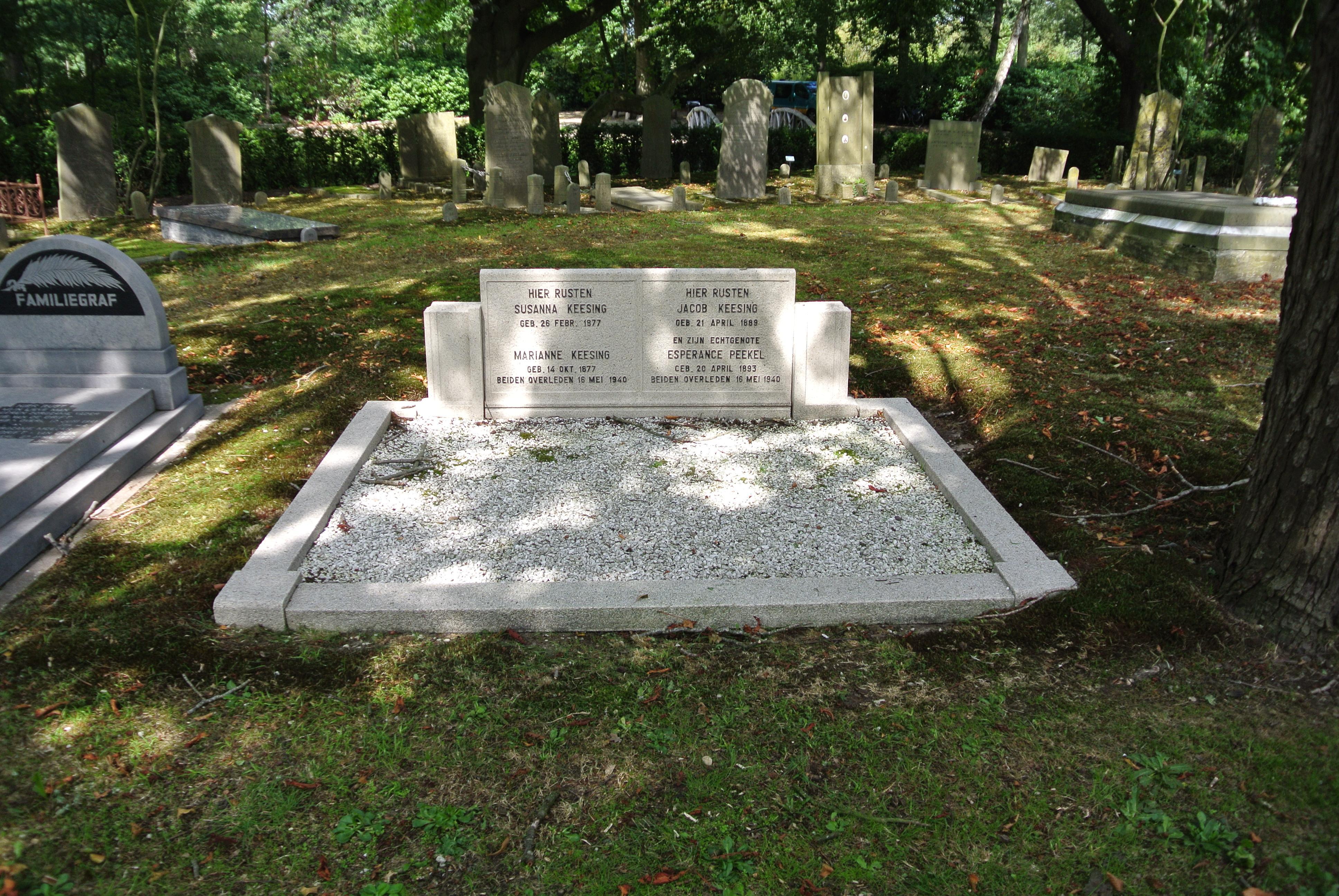 Officiële oorlogsgraven die een beetje 'vergeten' zijn: de Joodse familie Keesing, Willem Schol en Hendrik Wybes de Vries