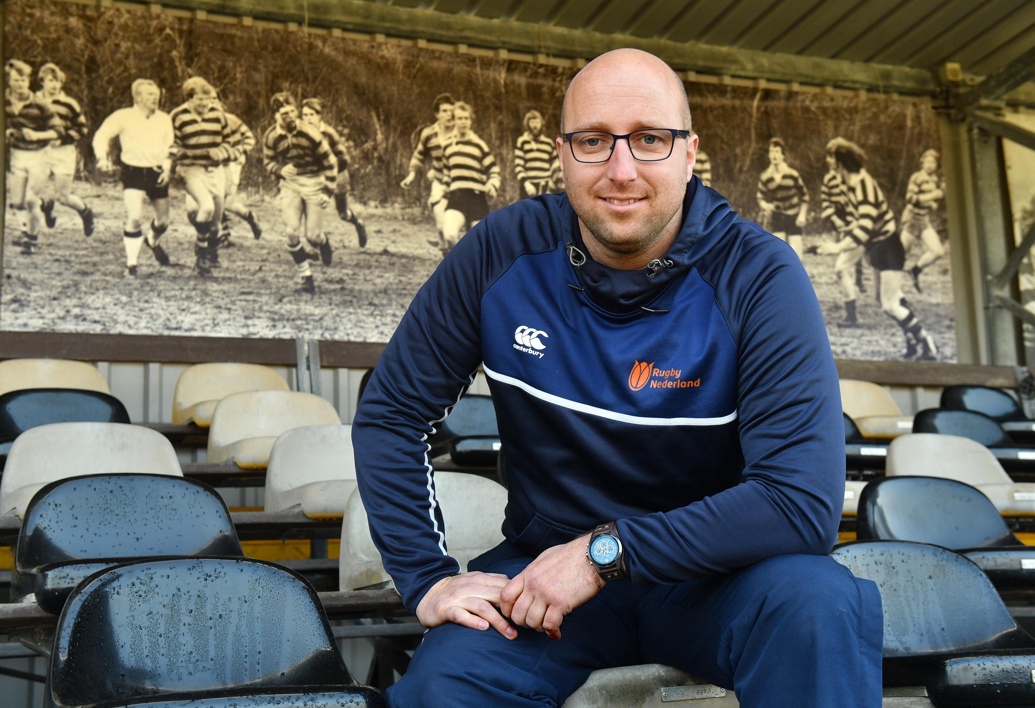 Alkmaarder Tijmen Vader is de eerste Nederlandse development manager in de rugbysport