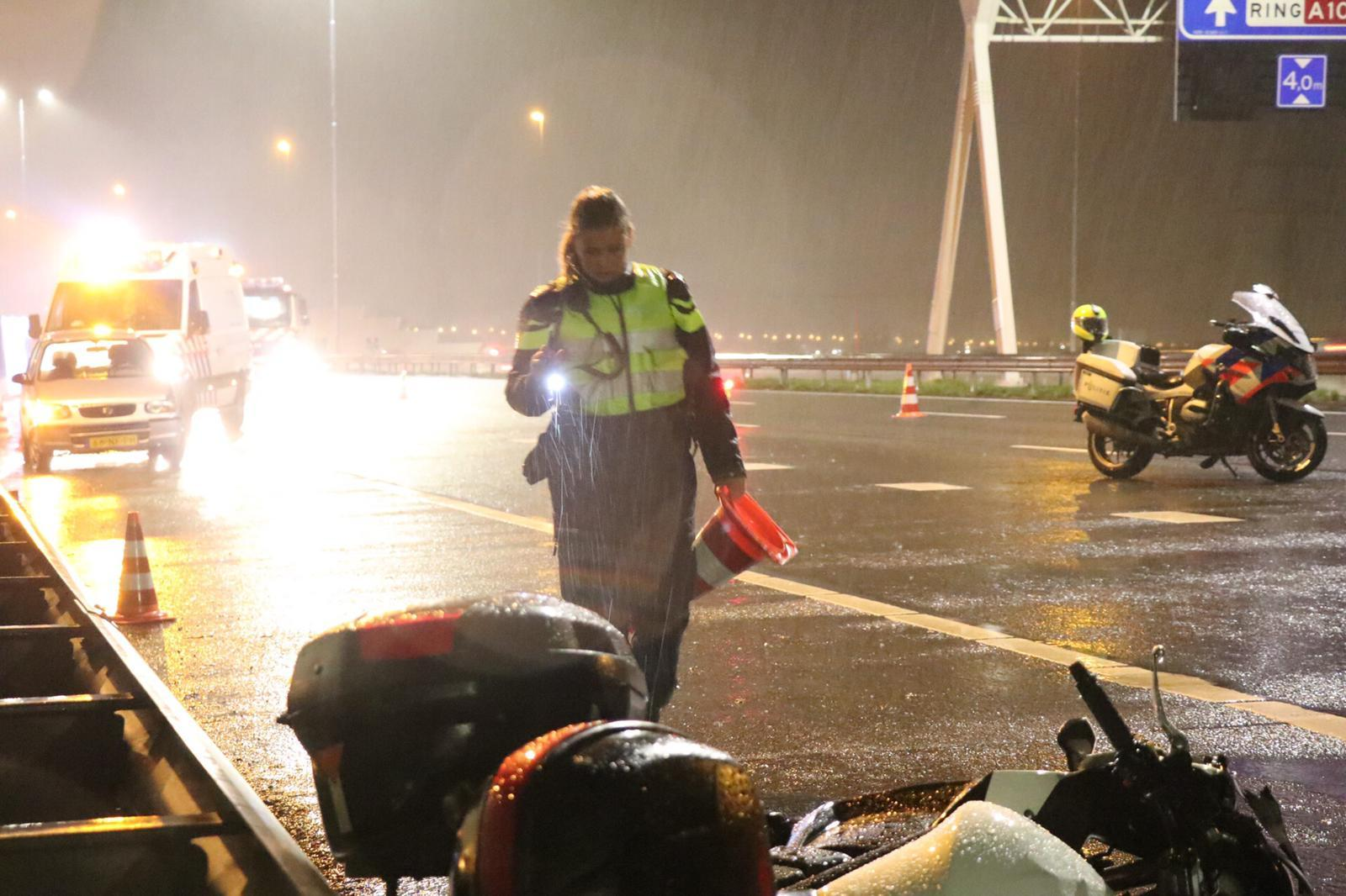 Strafeis 8 jaar voor dood injagen van motorrijder en vriendin op A10 bij Oostzaan