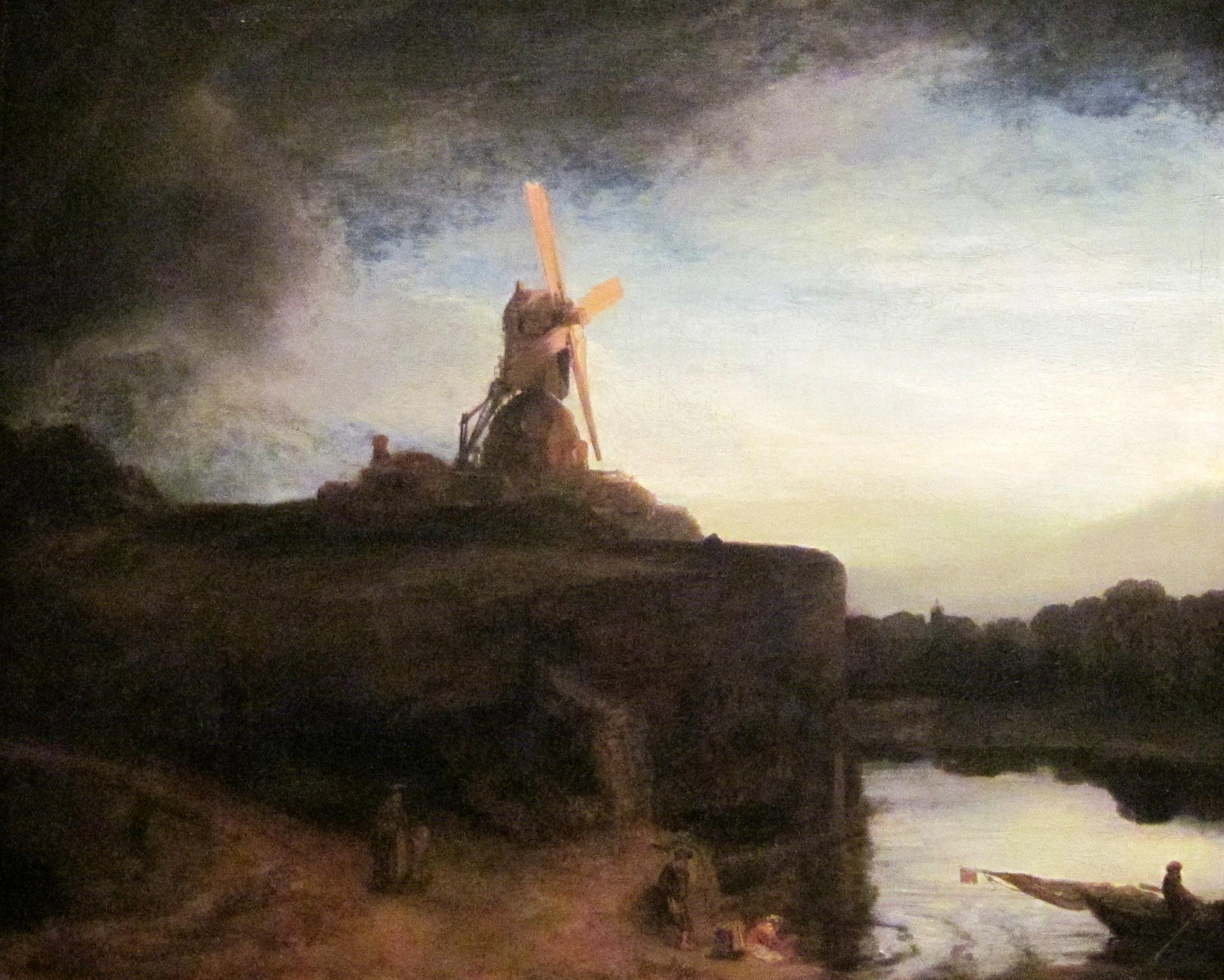 De 'glans van het genie' Rembrandt straalde vanaf de achtergracht