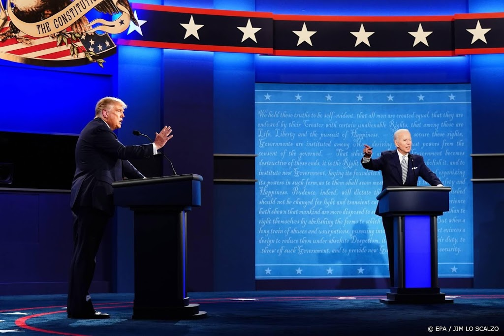 Microfoon in debat Biden-Trump tijdelijk uit als ander spreekt