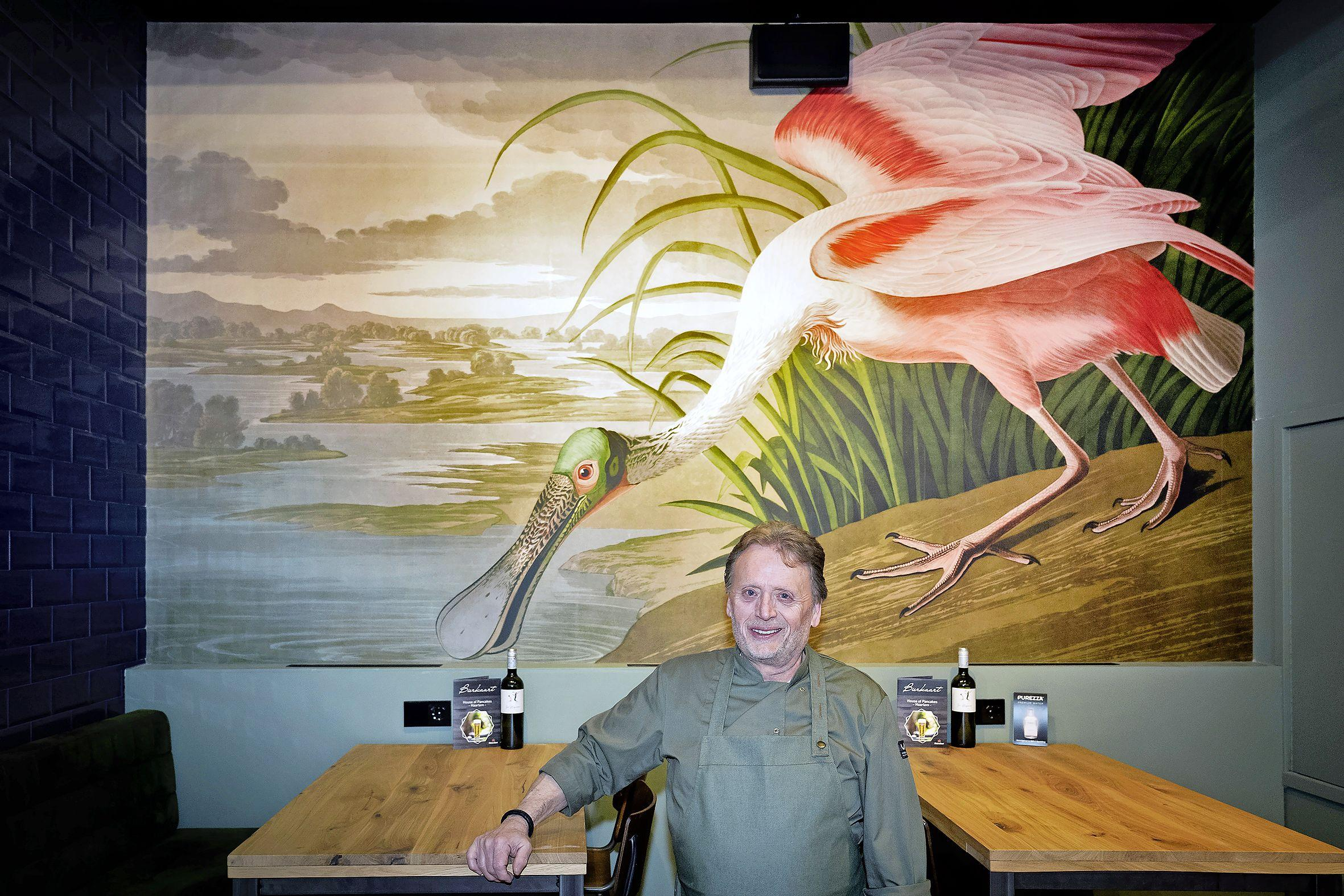 Jean-Paul Brinkman laat werk van omstreden vogelschilder Audubon in zijn restaurant hangen 'Je moet niet wegkijken van het probleem, maar er juist het gesprek over aan gaan'