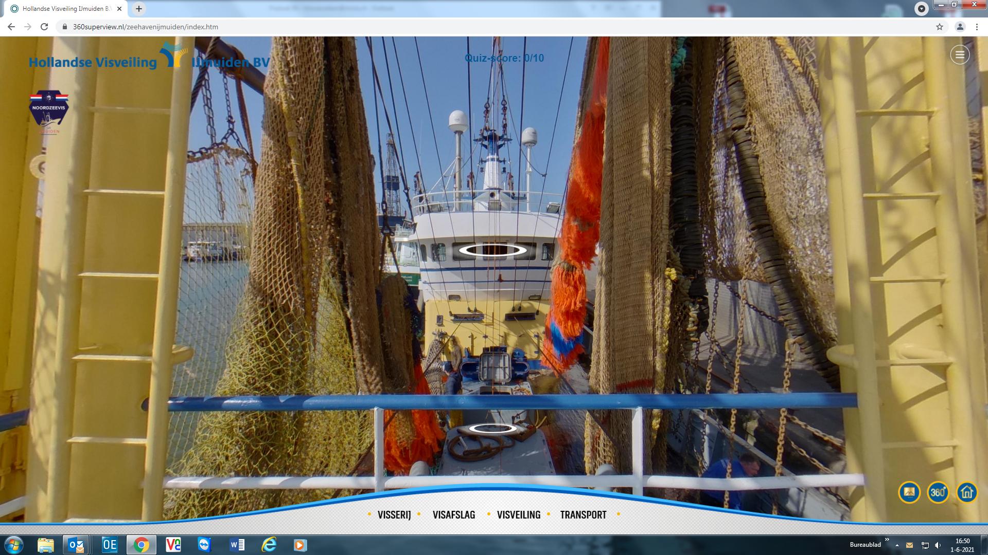 Alles is levensecht tijdens virtual tour door de visafslag van IJmuiden. Alleen de geur van verse vis ontbreekt