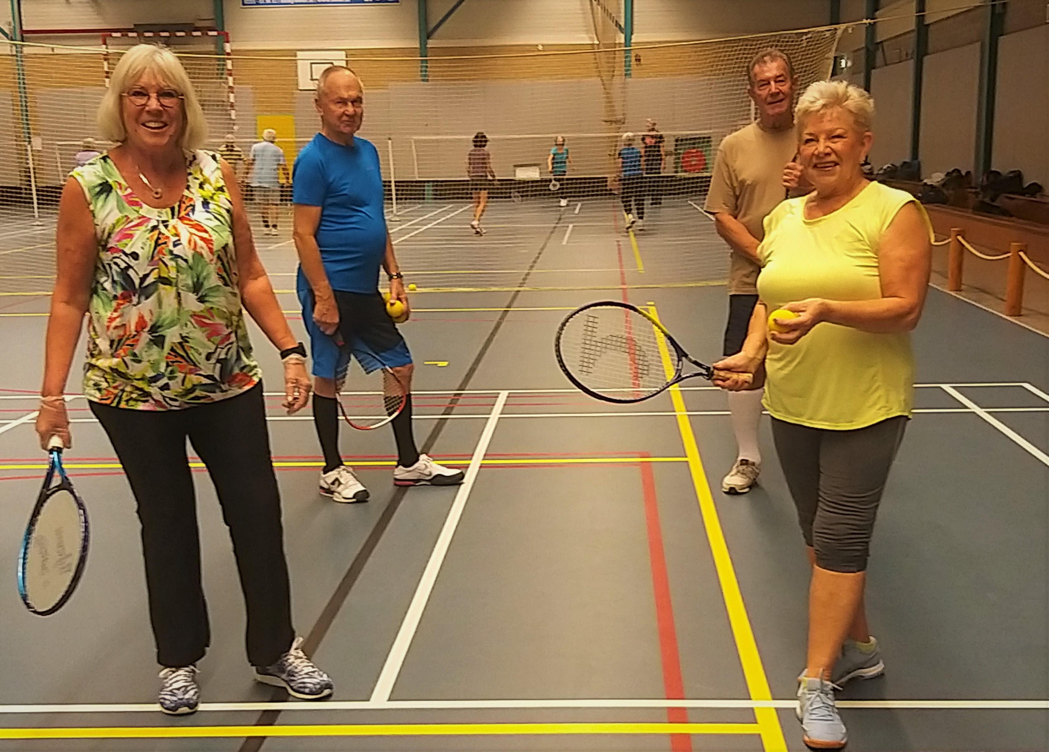 Potje Dutch Tennis in het Polderhuis in Velserbroek: 'Na de pauze kun je helemaal los gaan'