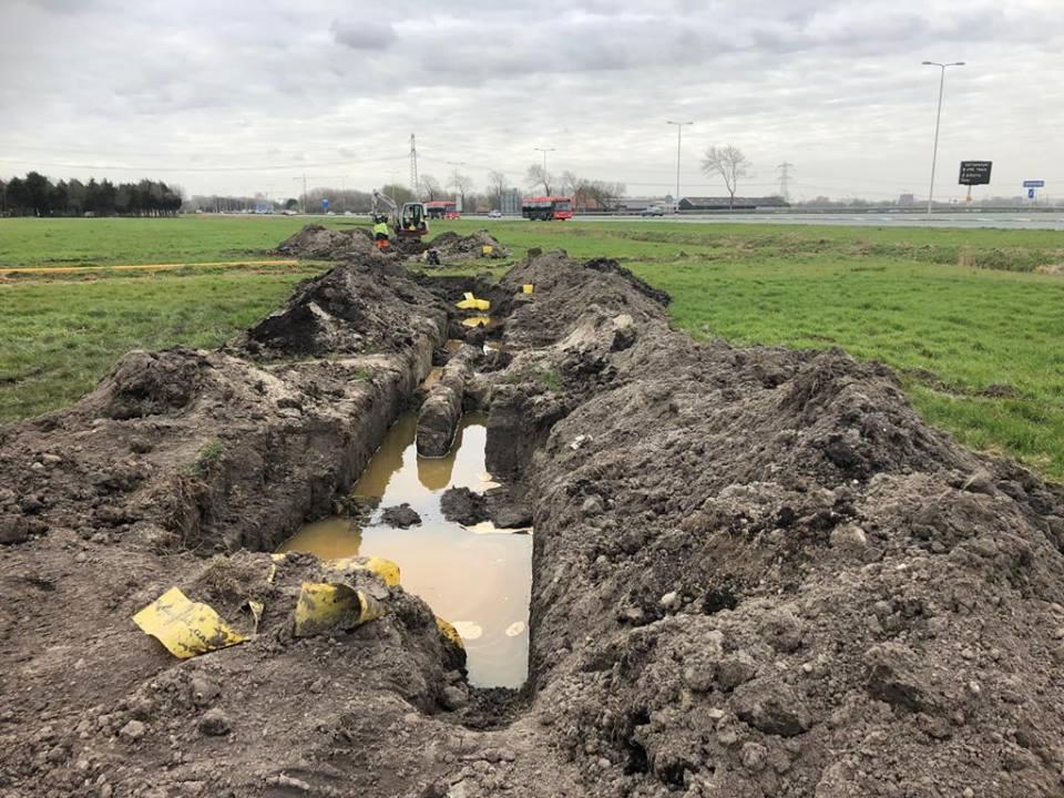 Gasleidingen verlegd voor reconstructie Het Schouw