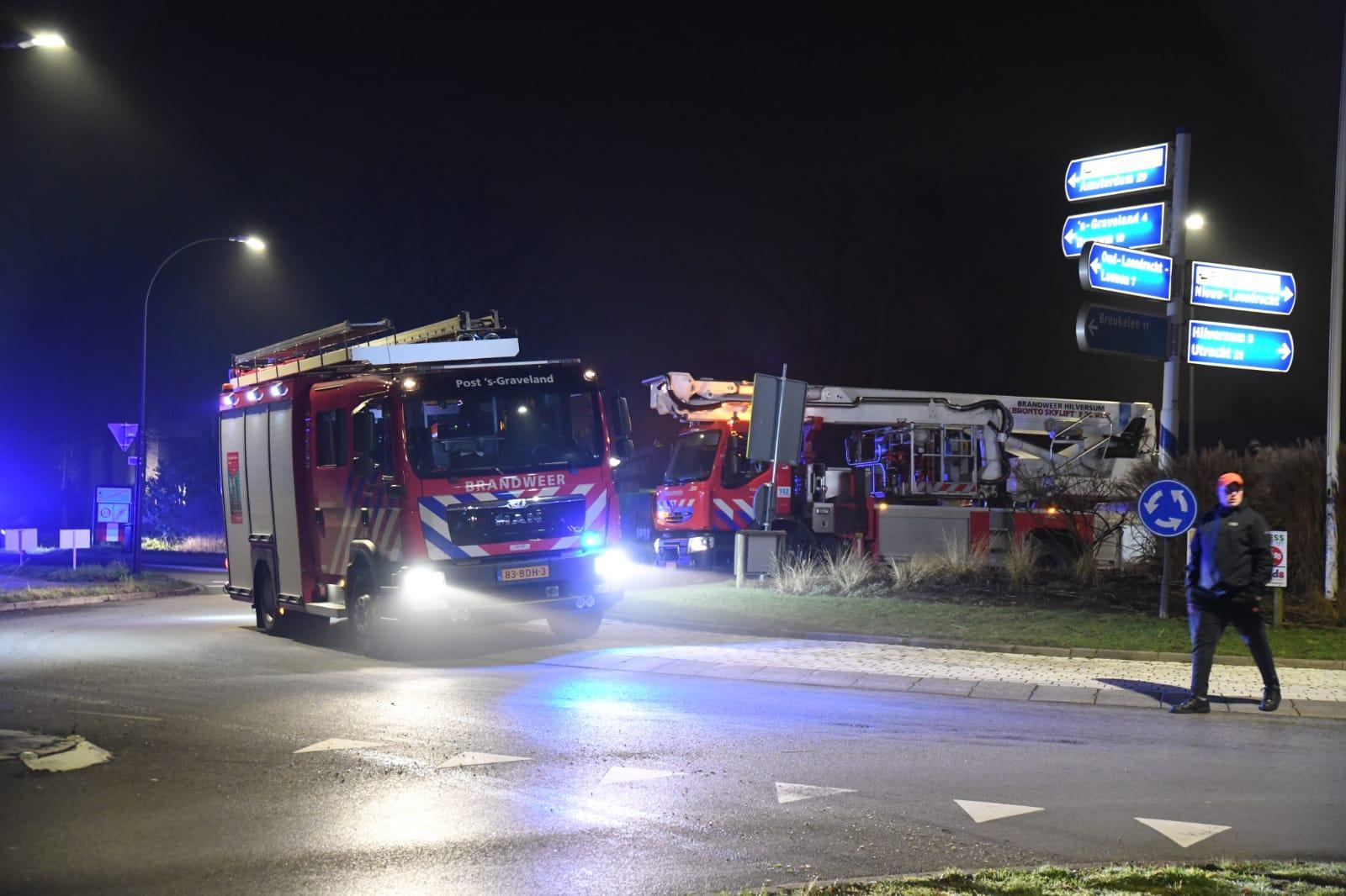 Chalet in Loosdrecht verwoest door brand