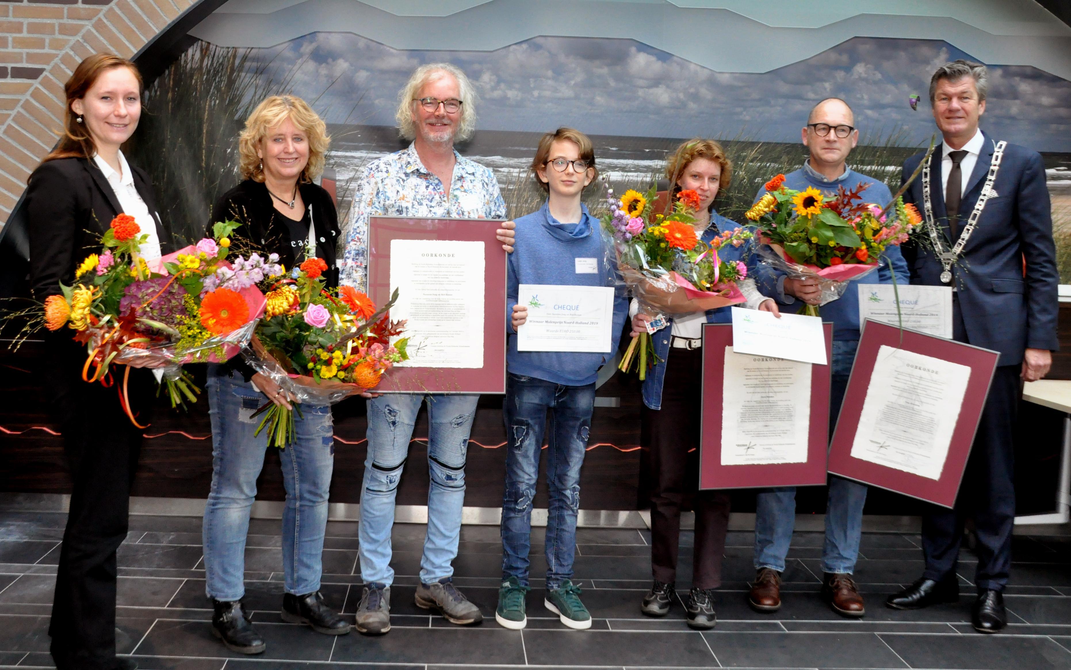 Prijzen voor molenaars uit Haarlem, Oudorp en Sint Pancras