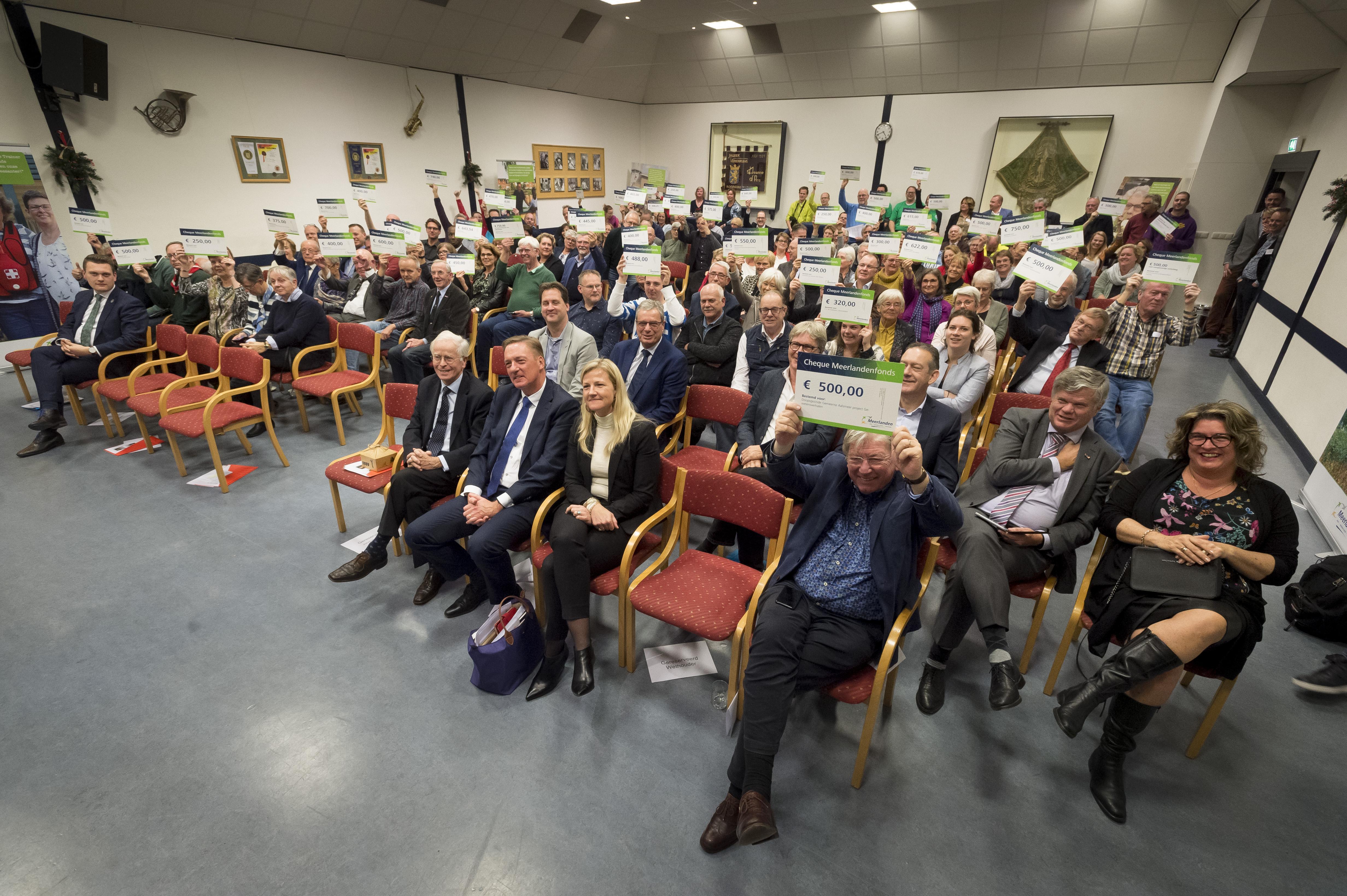 Meerlandenfonds maakt 112 clubs en verenigingen blij met donatie