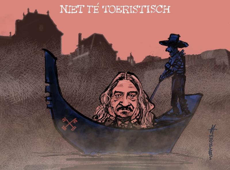 Ilja Leonard Pfeijffer: maak Leiden niet té toeristisch   Cartoon
