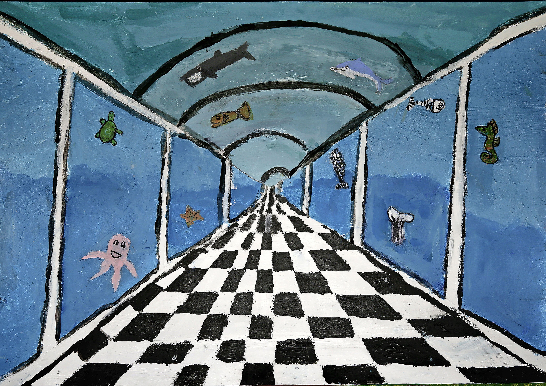 Perspectief lijkt een peulenschilletje voor prijswinnende basisschoolleerlingen Weesp; Jury Weespers aan de Wand onder de indruk van bijna driehonderd inzendingen